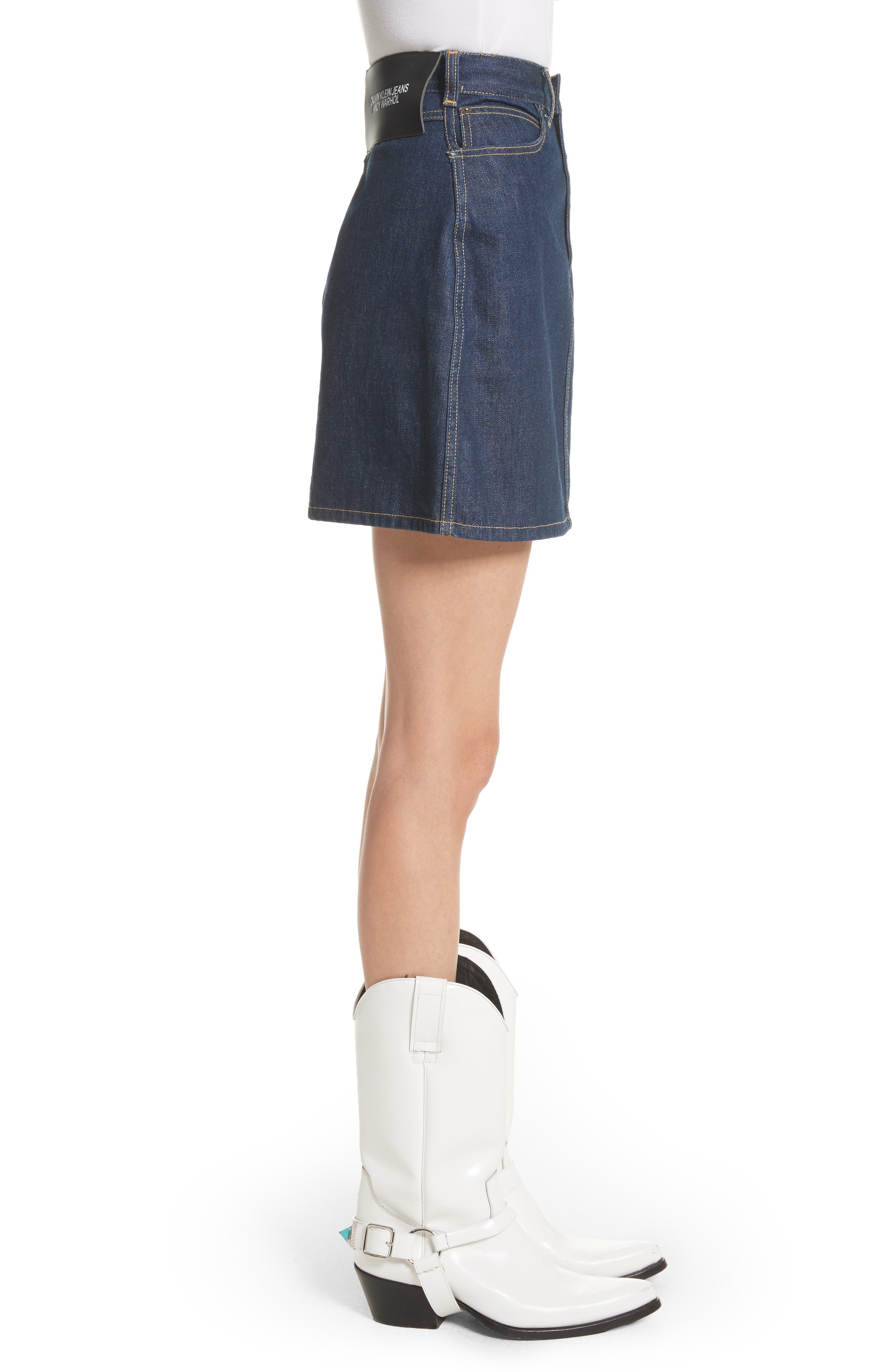 Alternate Image 4  - CALVIN KLEIN 205W39NYC x Andy Warhol Foundation Dennis Hopper Denim Skirt