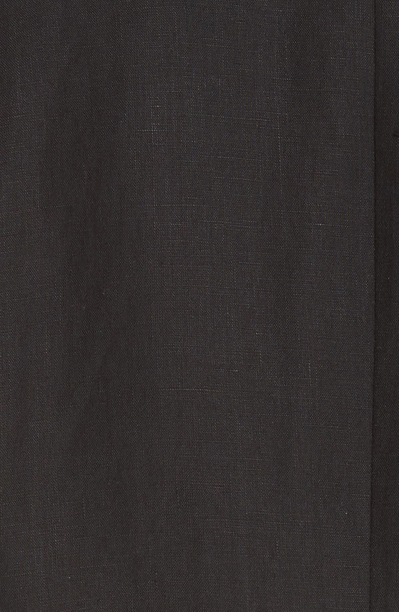 Dolmen Linen Blazer,                             Alternate thumbnail 5, color,                             Black