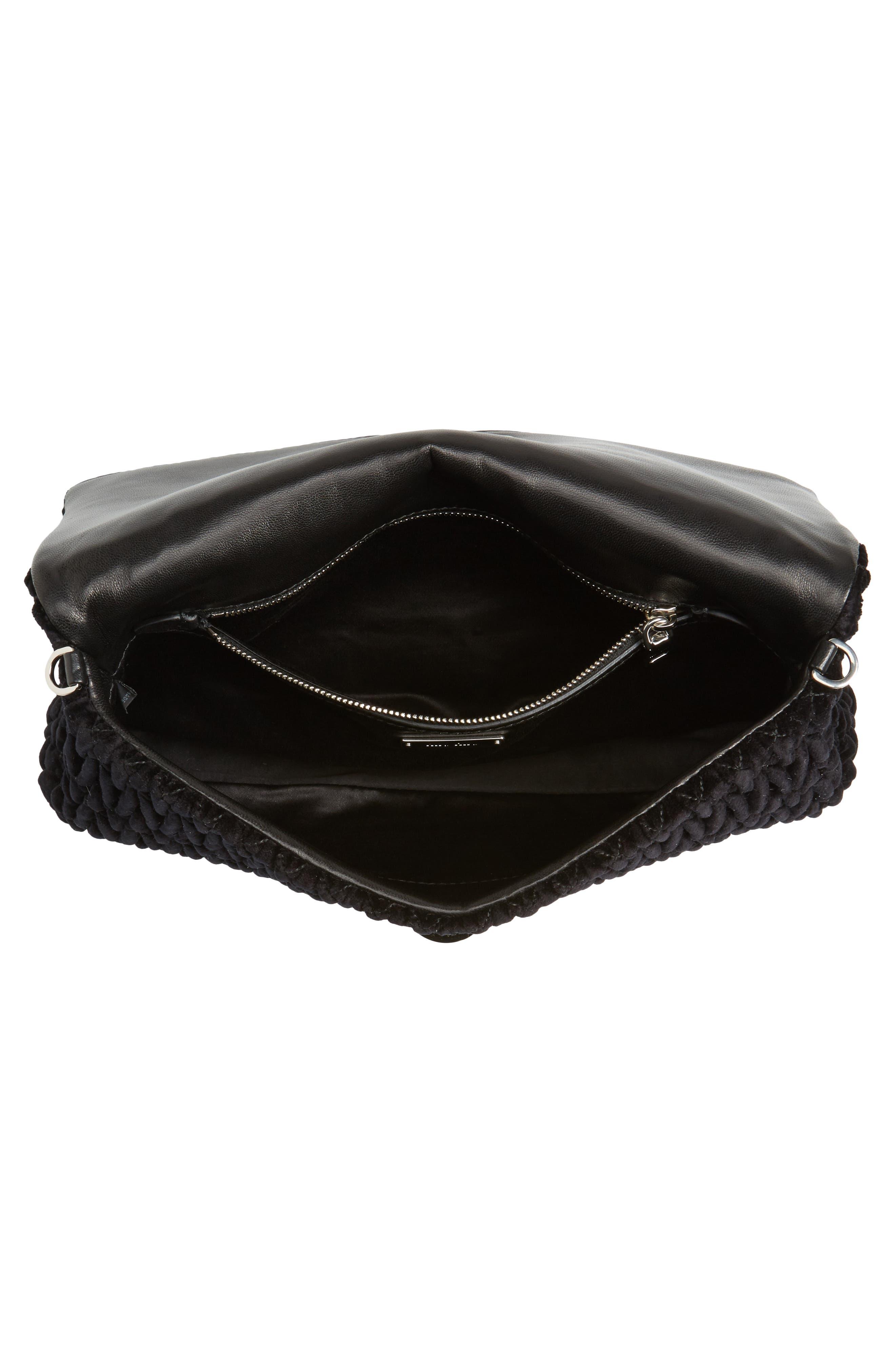 Alternate Image 5  - Miu Miu Crystal Embellished Matelassé Velvet Shoulder Bag