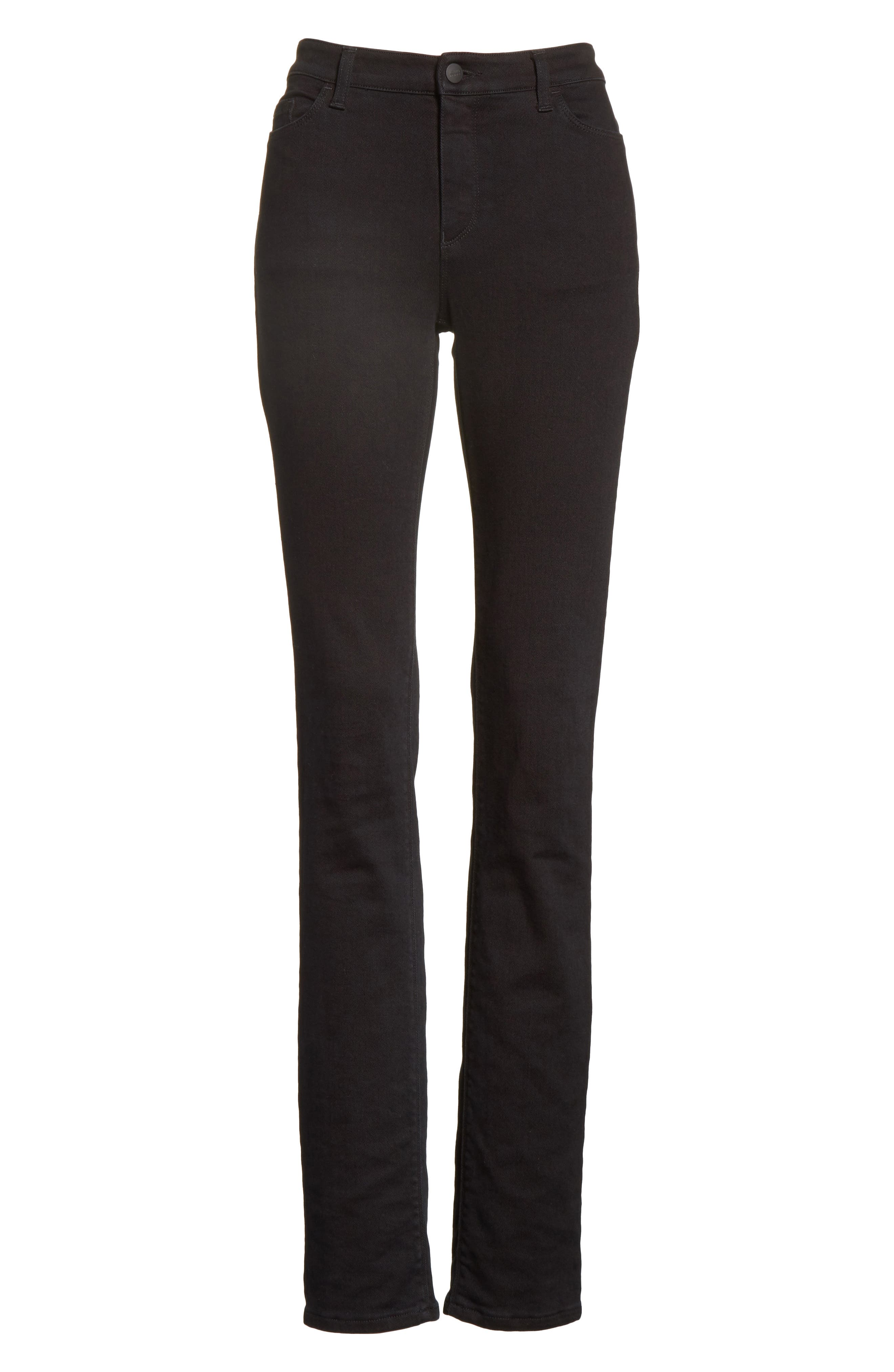 Straight Leg Jeans,                         Main,                         color, Black