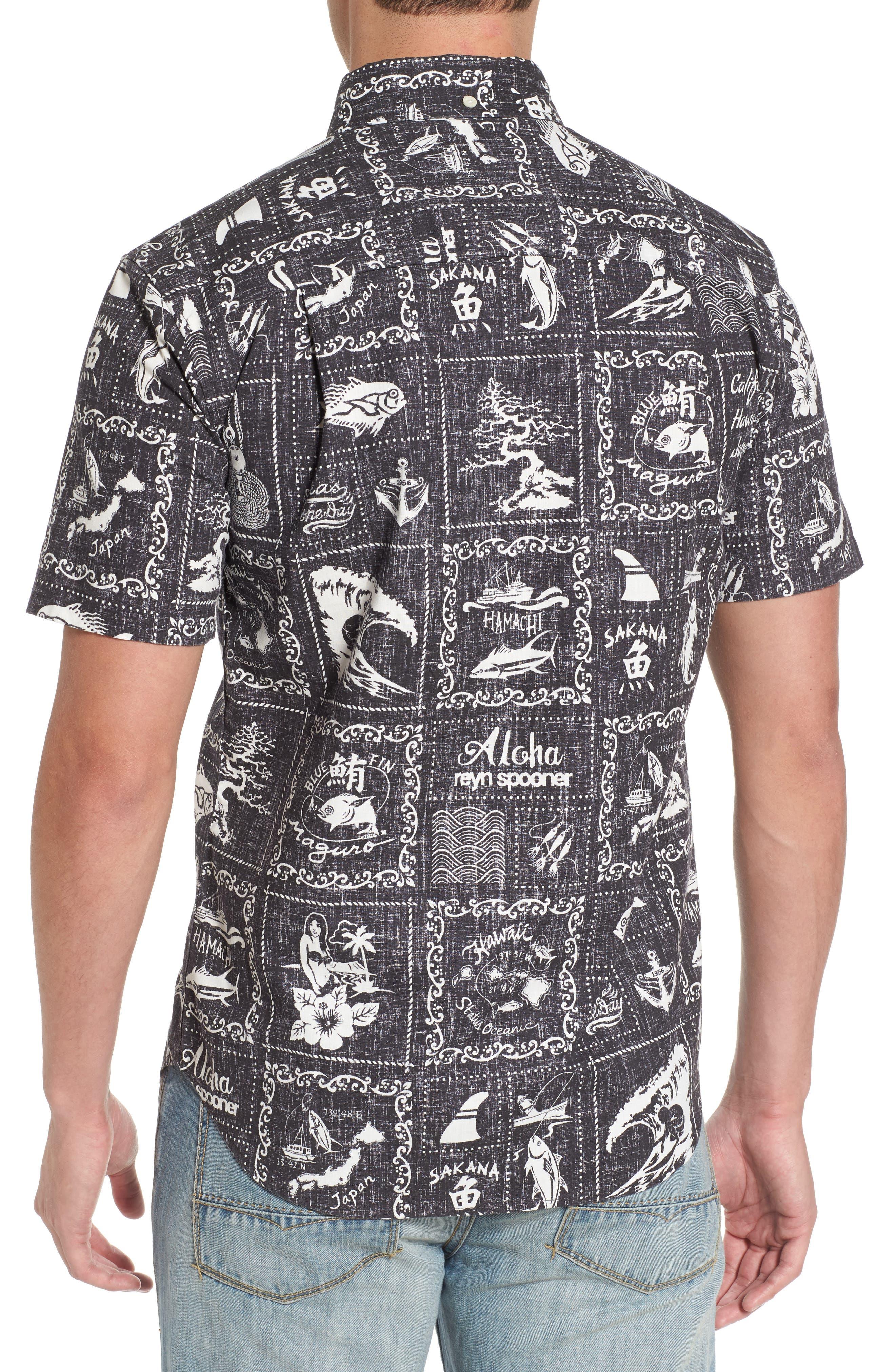 Alternate Image 2  - Reyn Spooner Stories from the East Regular Fit Sport Shirt