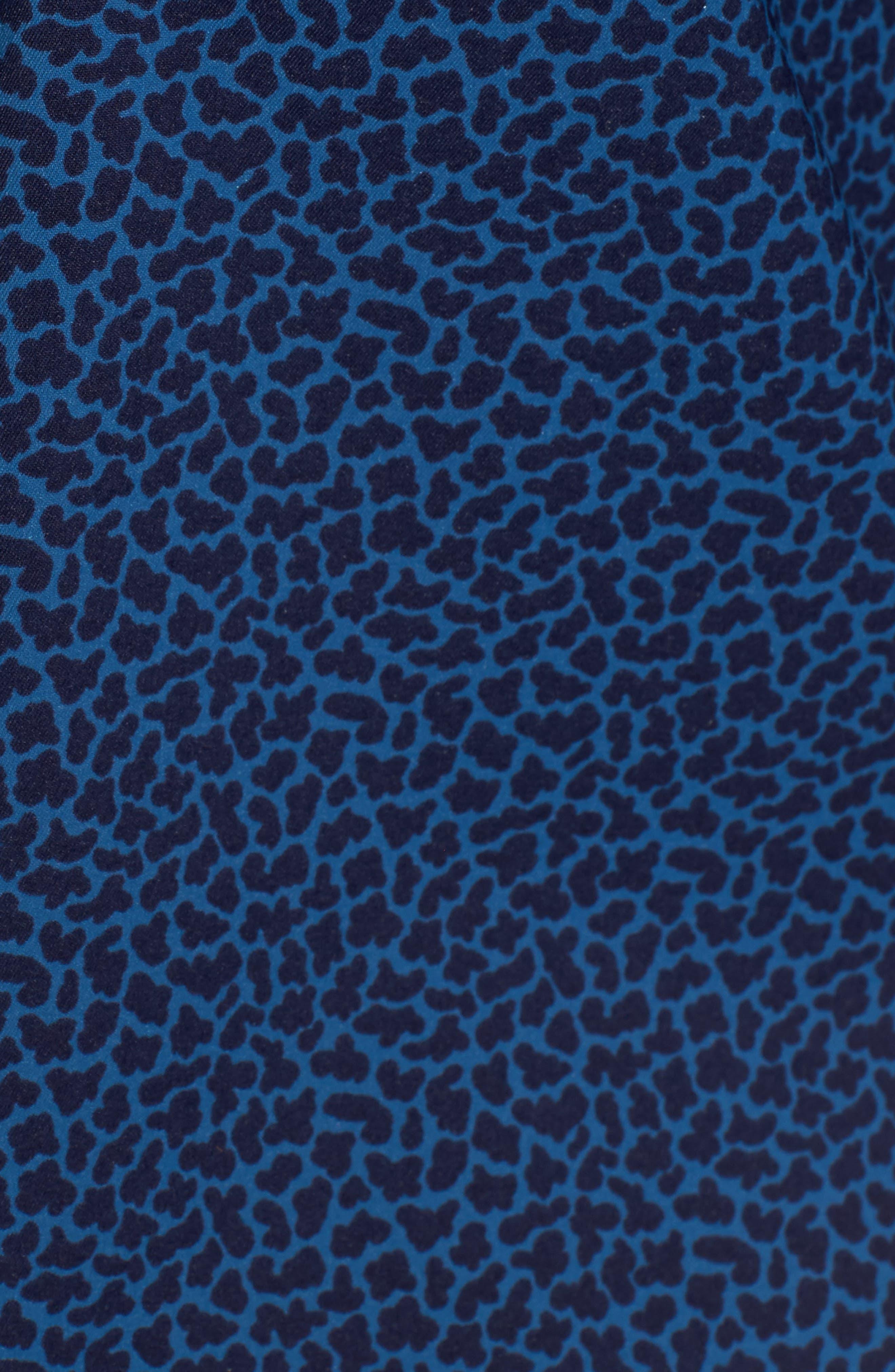 Townson Regular Fit Mini Camo Performance Sport Shirt,                             Alternate thumbnail 5, color,                             Yankee Blue