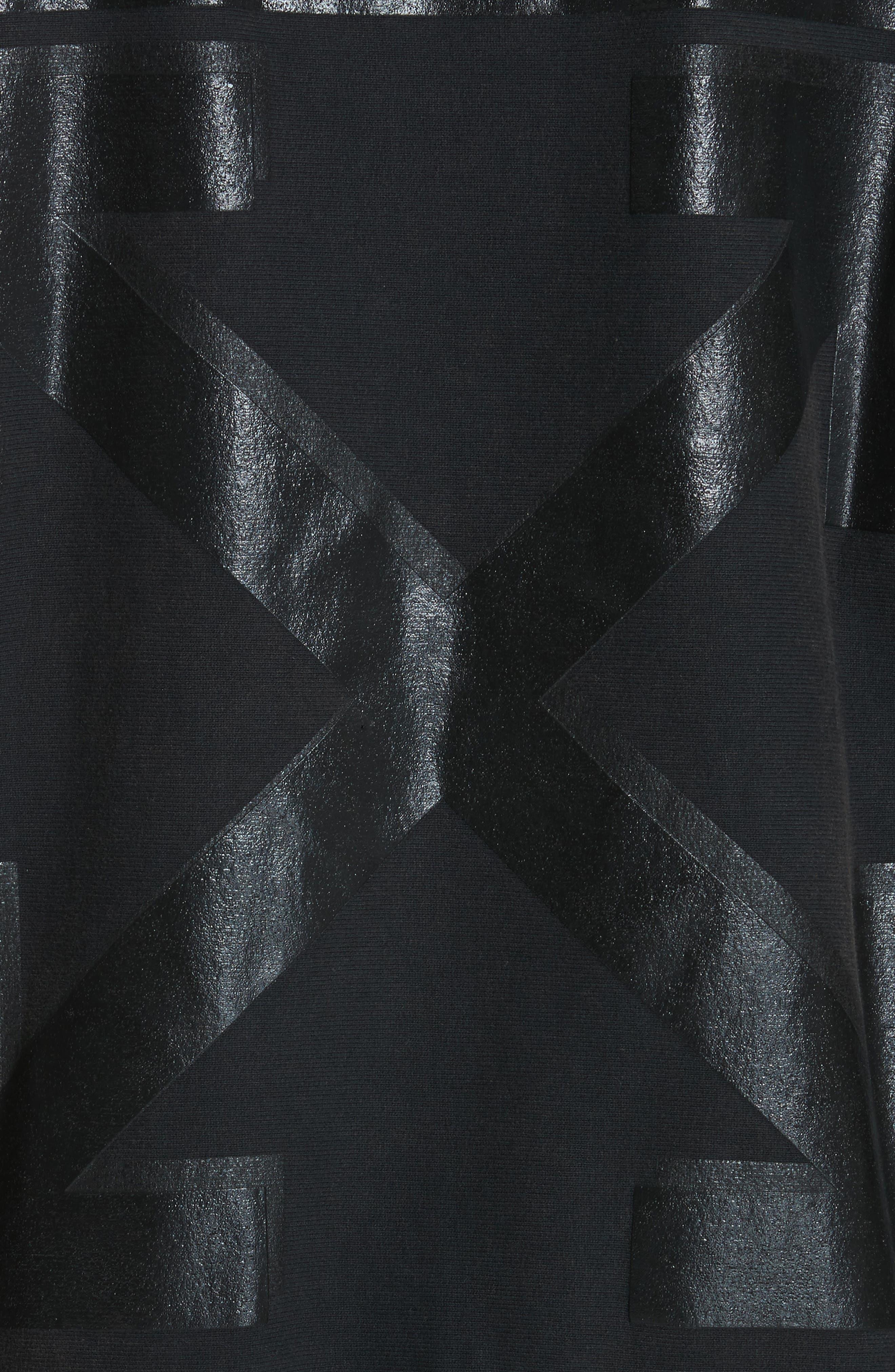 x Champion Pullover Hoodie,                             Alternate thumbnail 5, color,                             Black/ Black