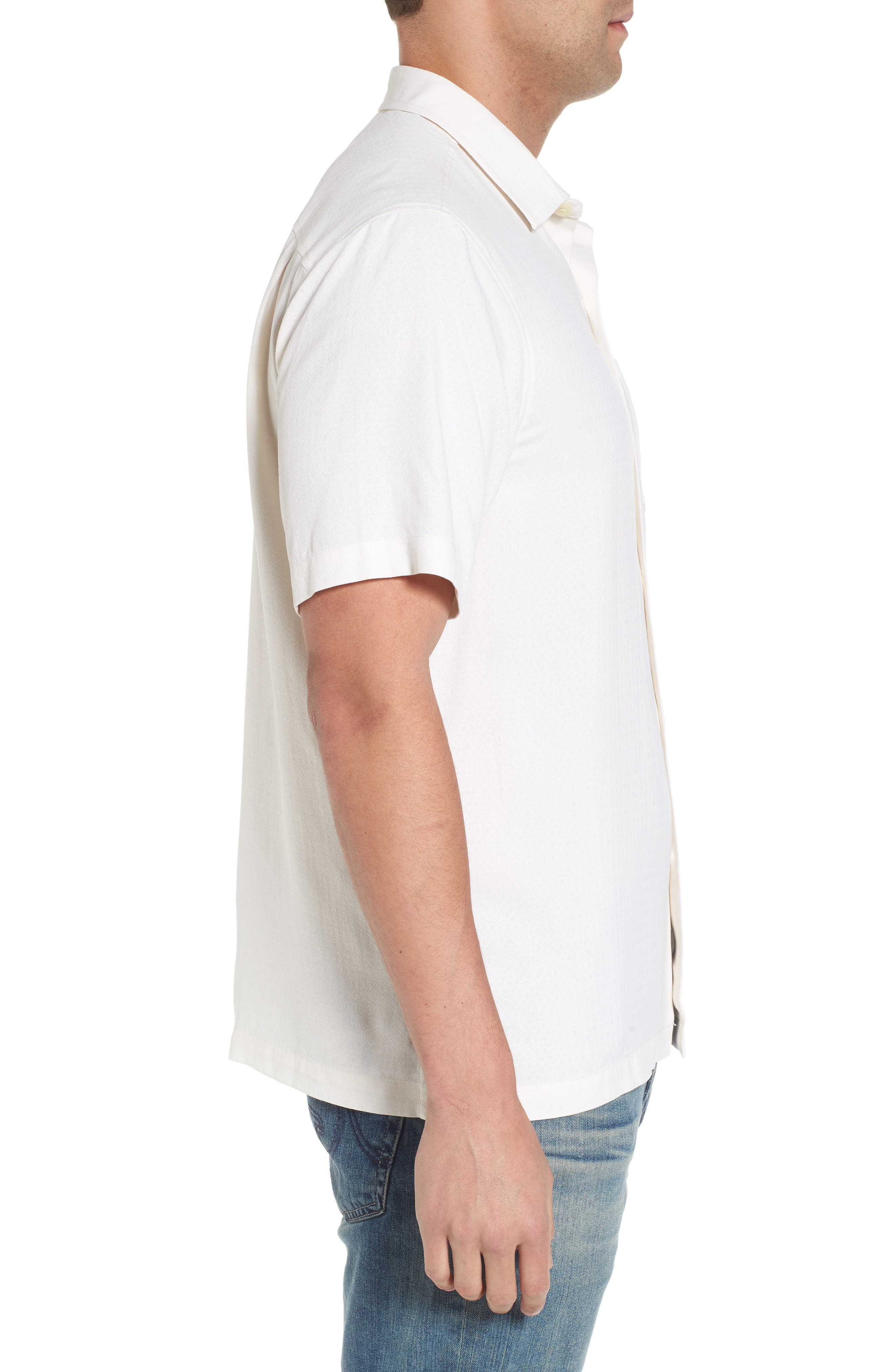 Oasis Jacquard Silk Sport Shirt,                             Alternate thumbnail 4, color,                             Continental