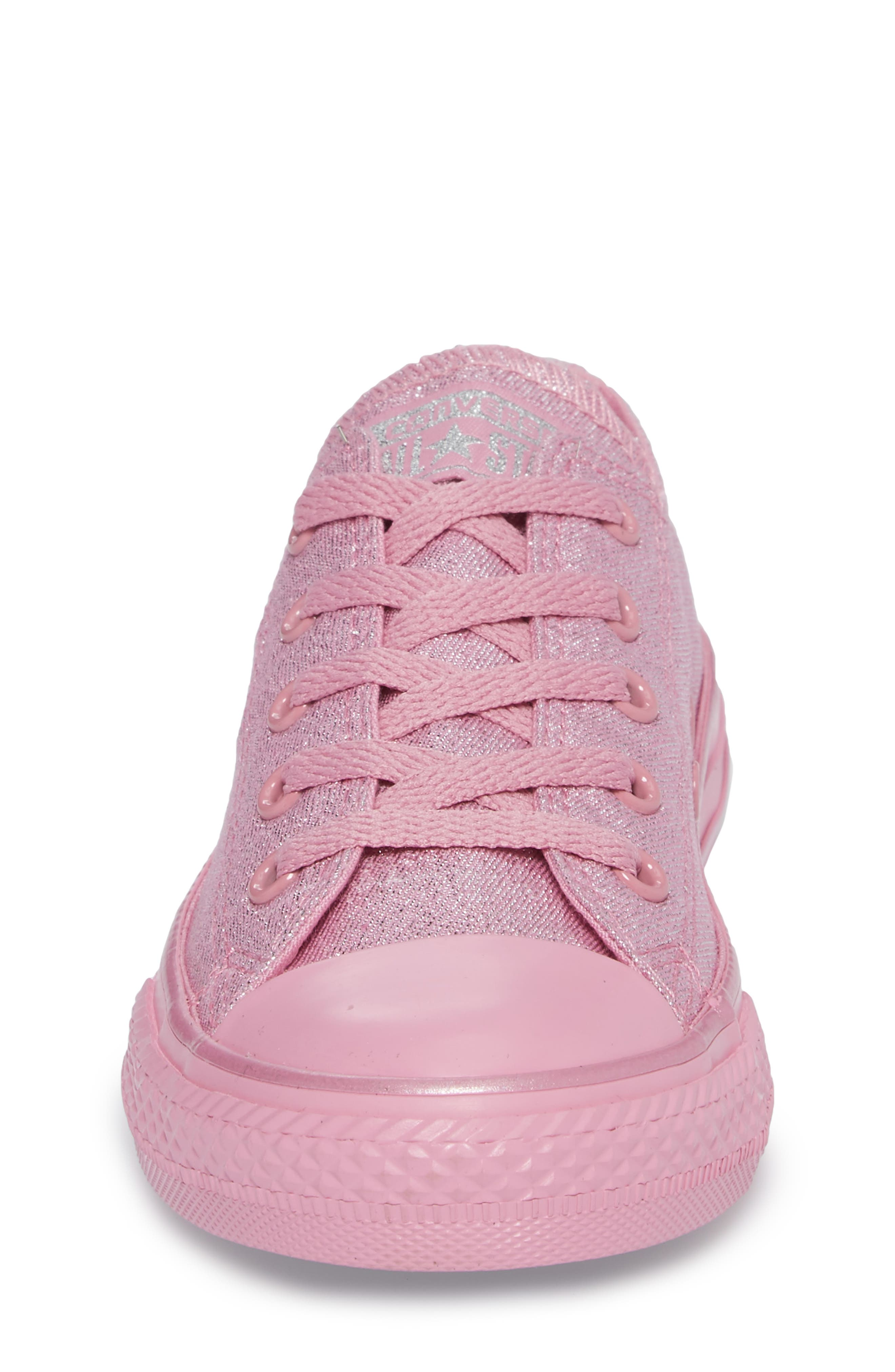Alternate Image 4  - Converse All Star® Mono Shine Low Top Sneaker (Toddler, Little Kid & Big Kid)