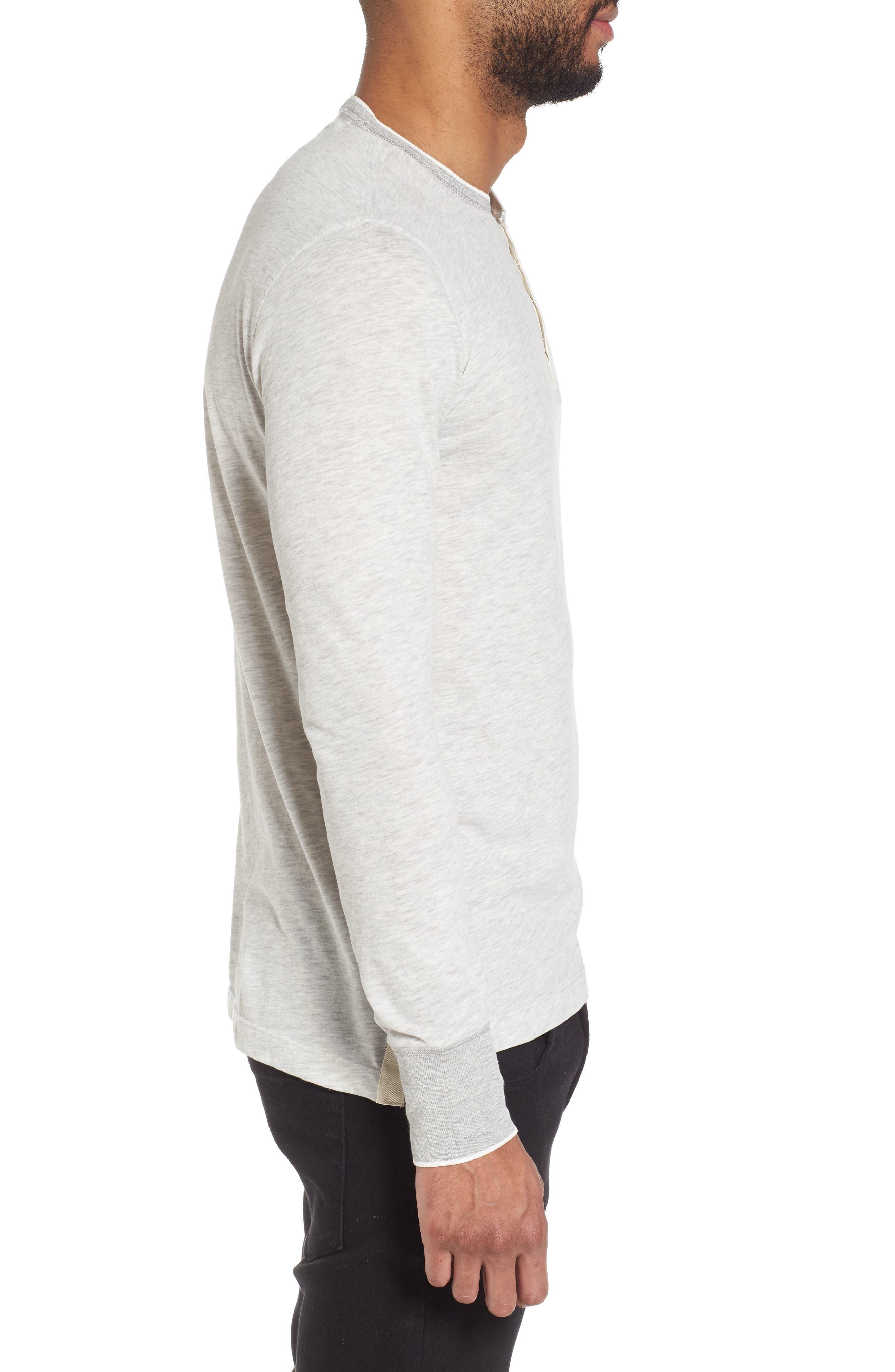 Club Nomade Soft Granddad T-Shirt,                             Alternate thumbnail 3, color,                             Grey Melange