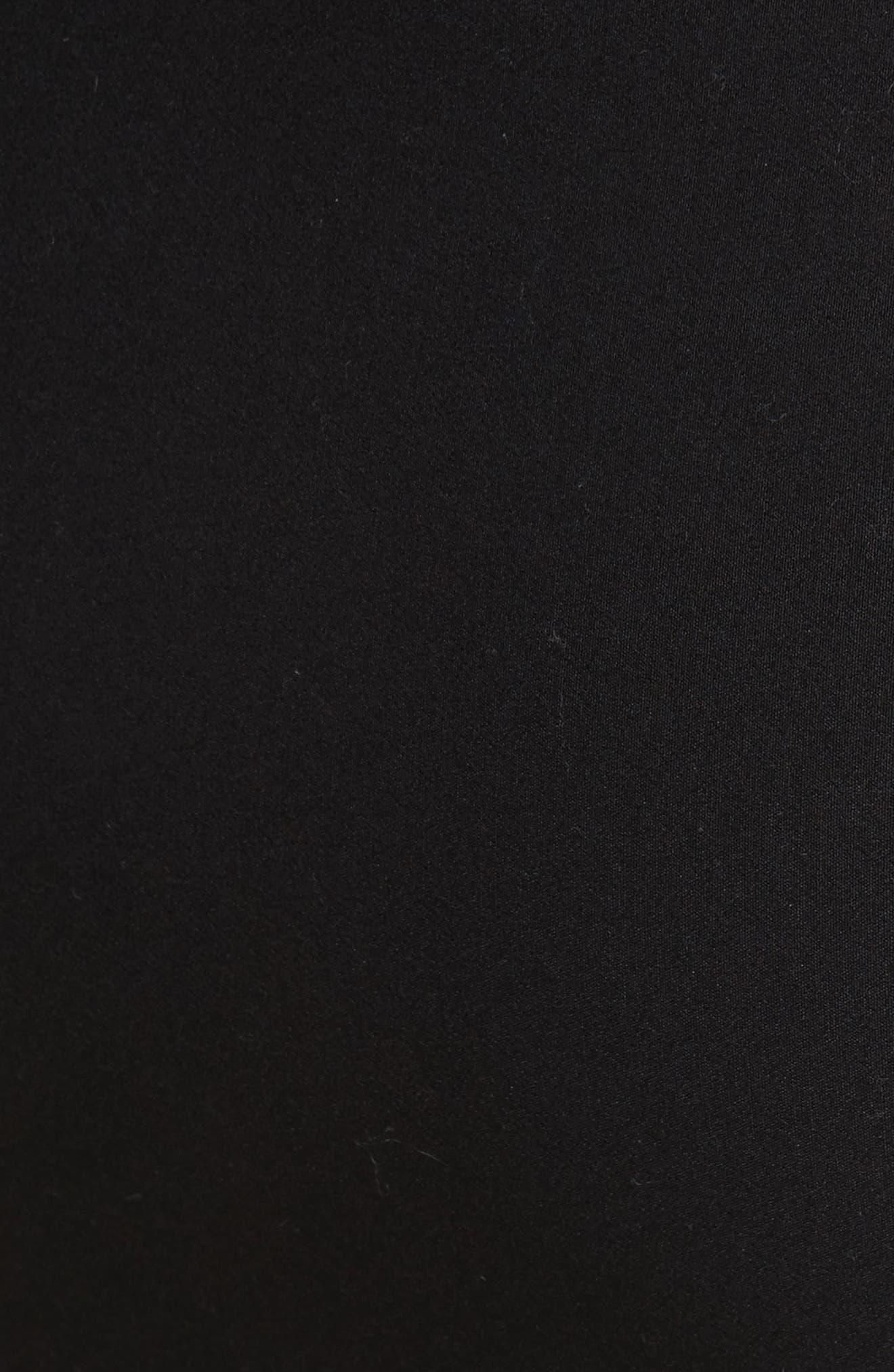 Stretch Ponte Pencil Skirt,                             Alternate thumbnail 5, color,                             Black