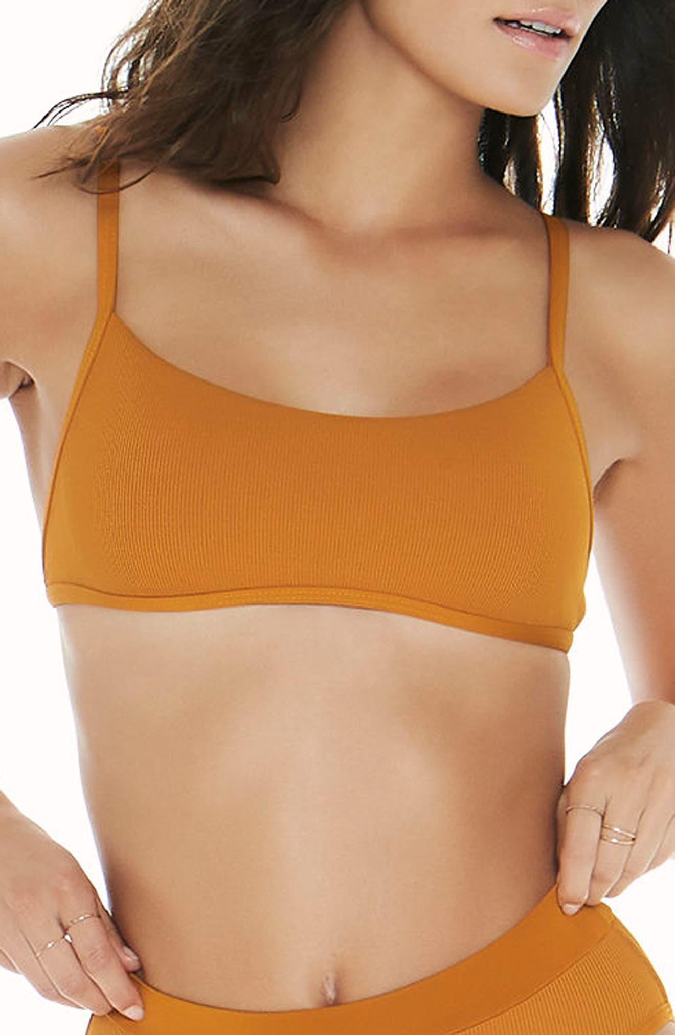 Gemma Bikini Top,                             Main thumbnail 1, color,                             Inka Gold
