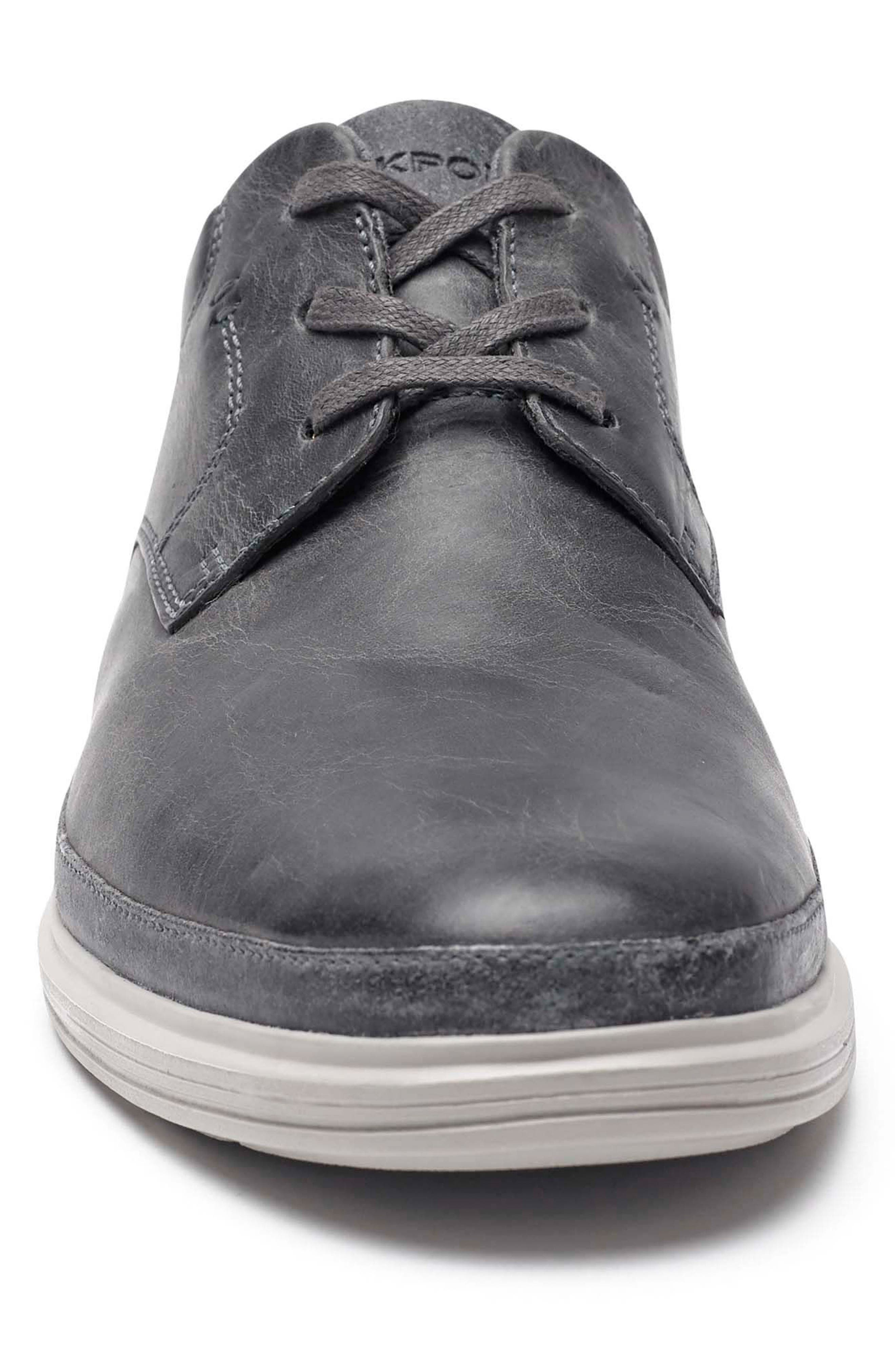Dressports 2 Go Plain Toe Derby,                             Alternate thumbnail 4, color,                             Grey Leather