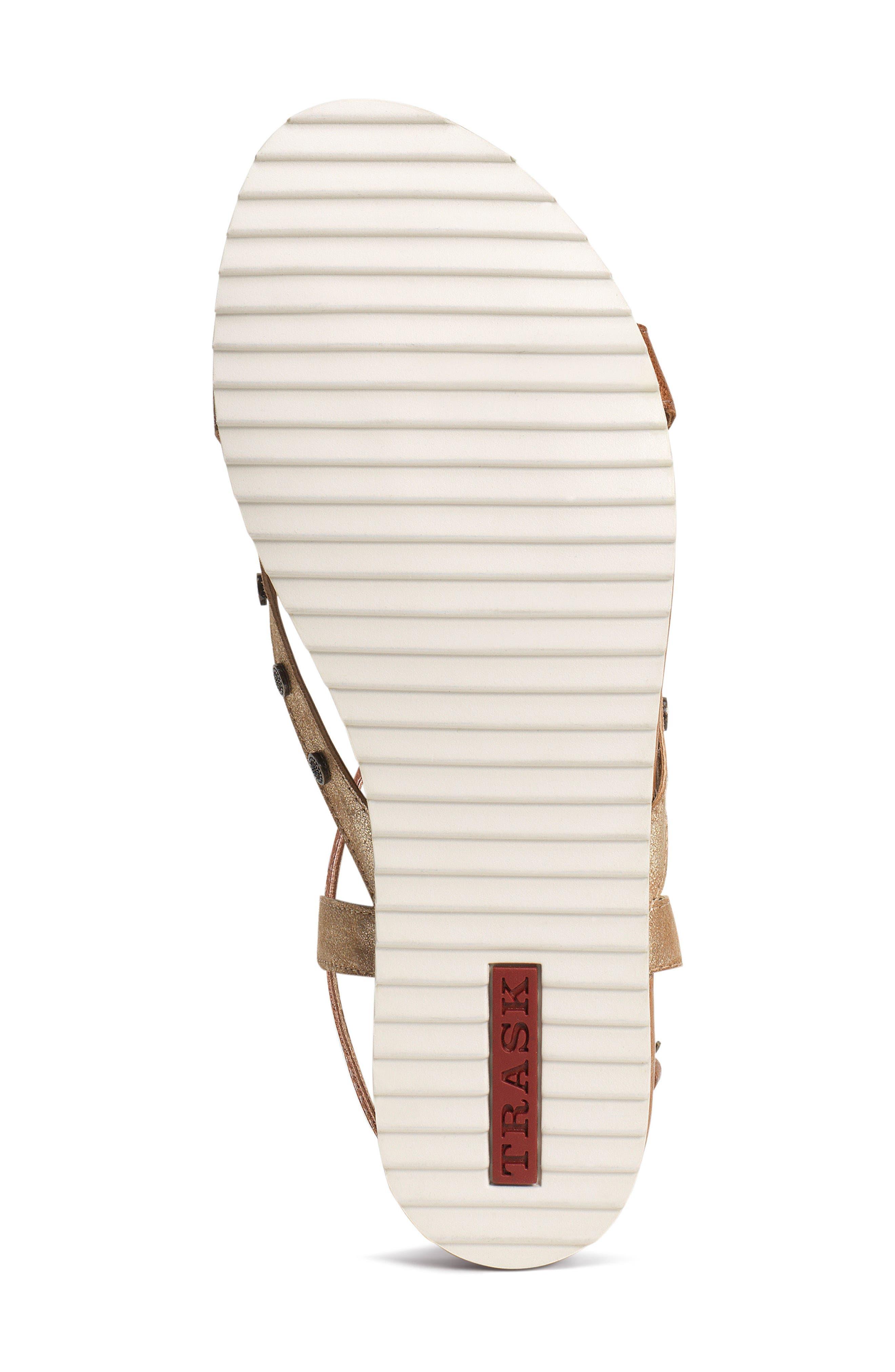 Shayla Water Resistant Sandal,                             Alternate thumbnail 6, color,                             Teak Suede