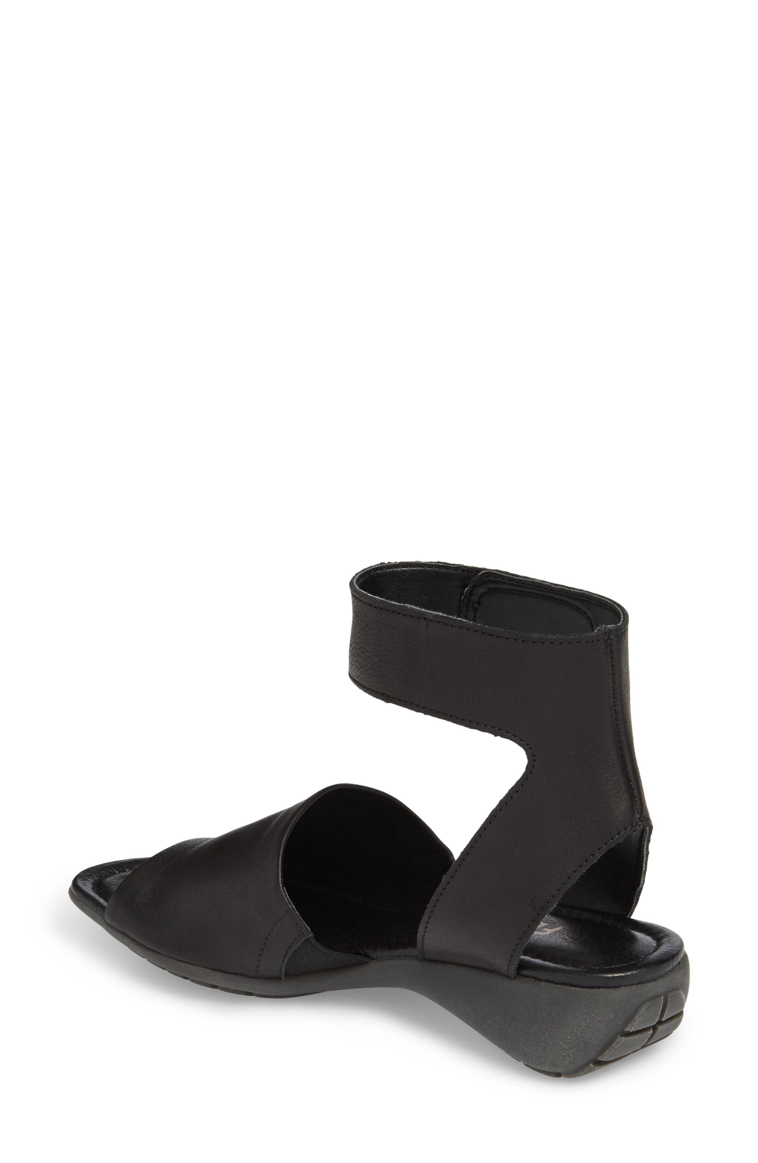 'Beglad' Leather Ankle Strap Sandal,                             Alternate thumbnail 2, color,                             Black Vachetta Leather