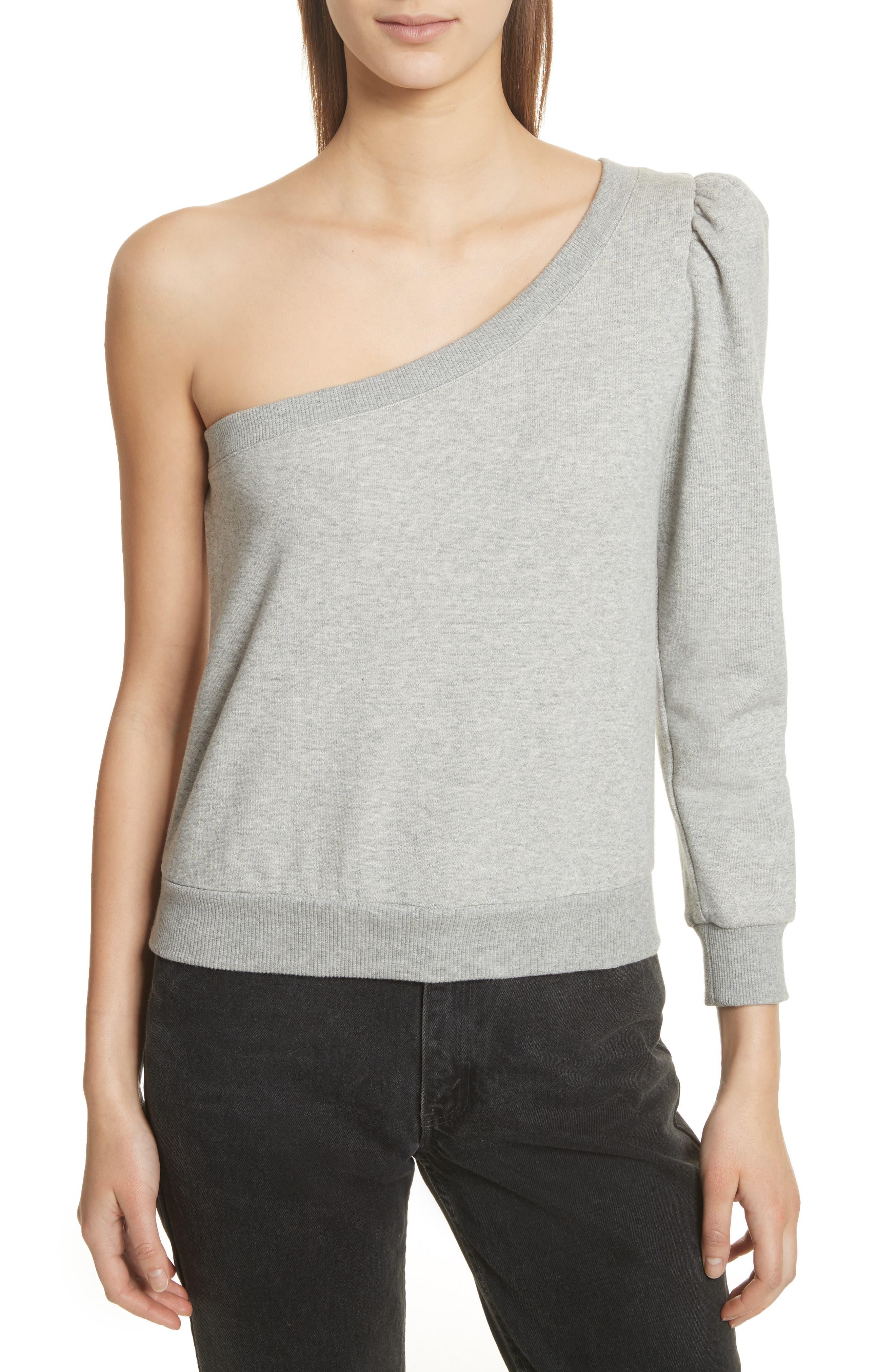 A.L.C. Crane One-Shoulder Sweatshirt