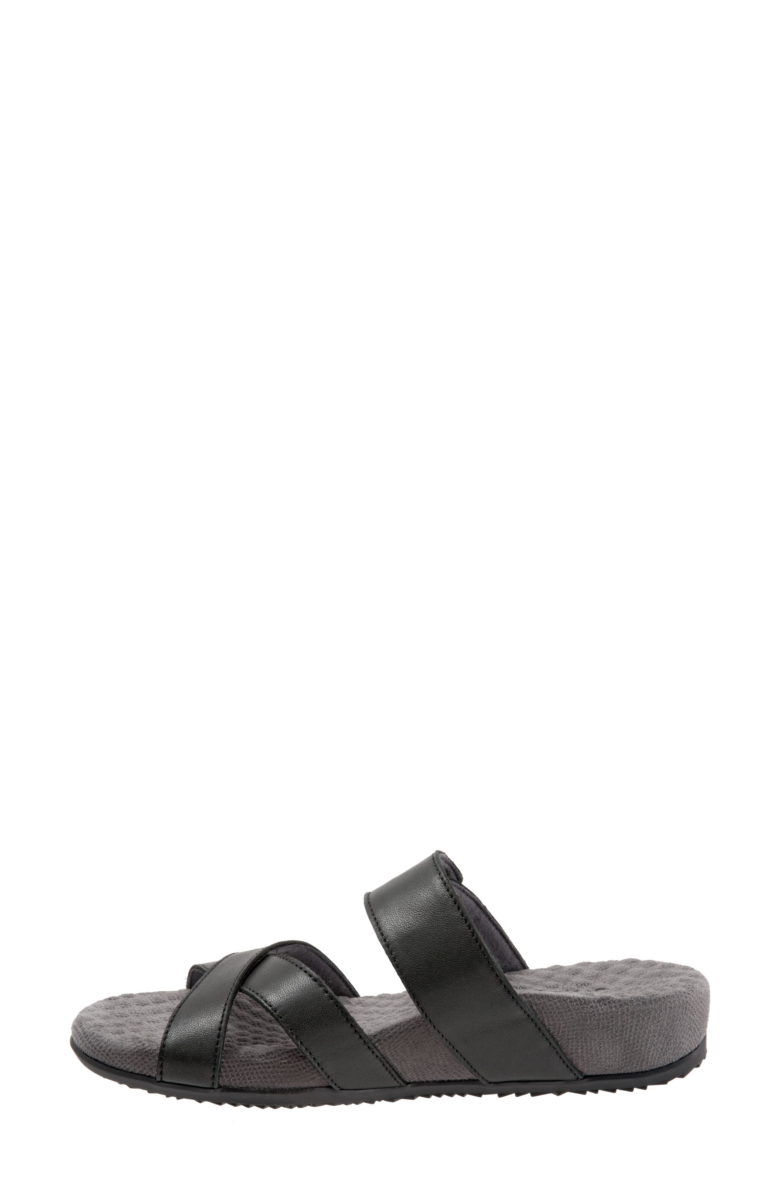 Brimley Sandal,                             Alternate thumbnail 8, color,                             Black Leather