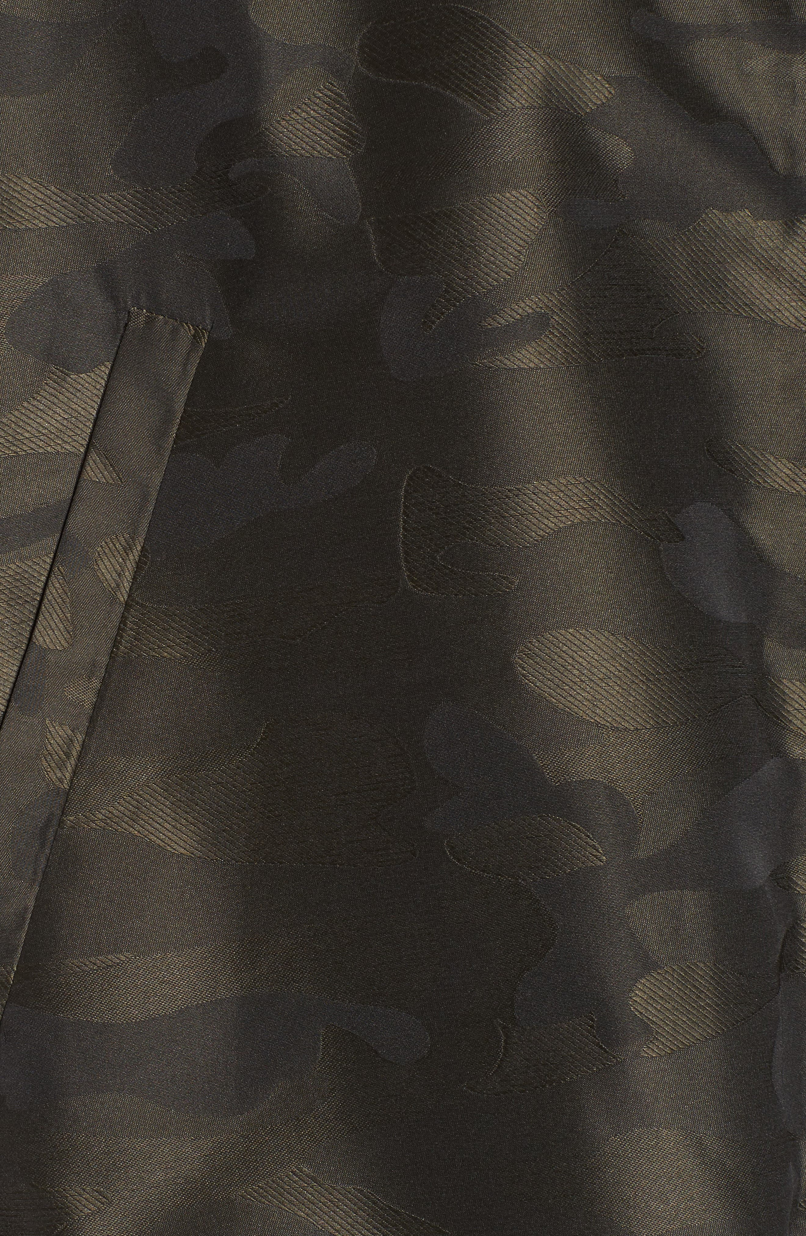 Camo We Not Bell Sleeve Jacket,                             Alternate thumbnail 5, color,                             Olive Camo