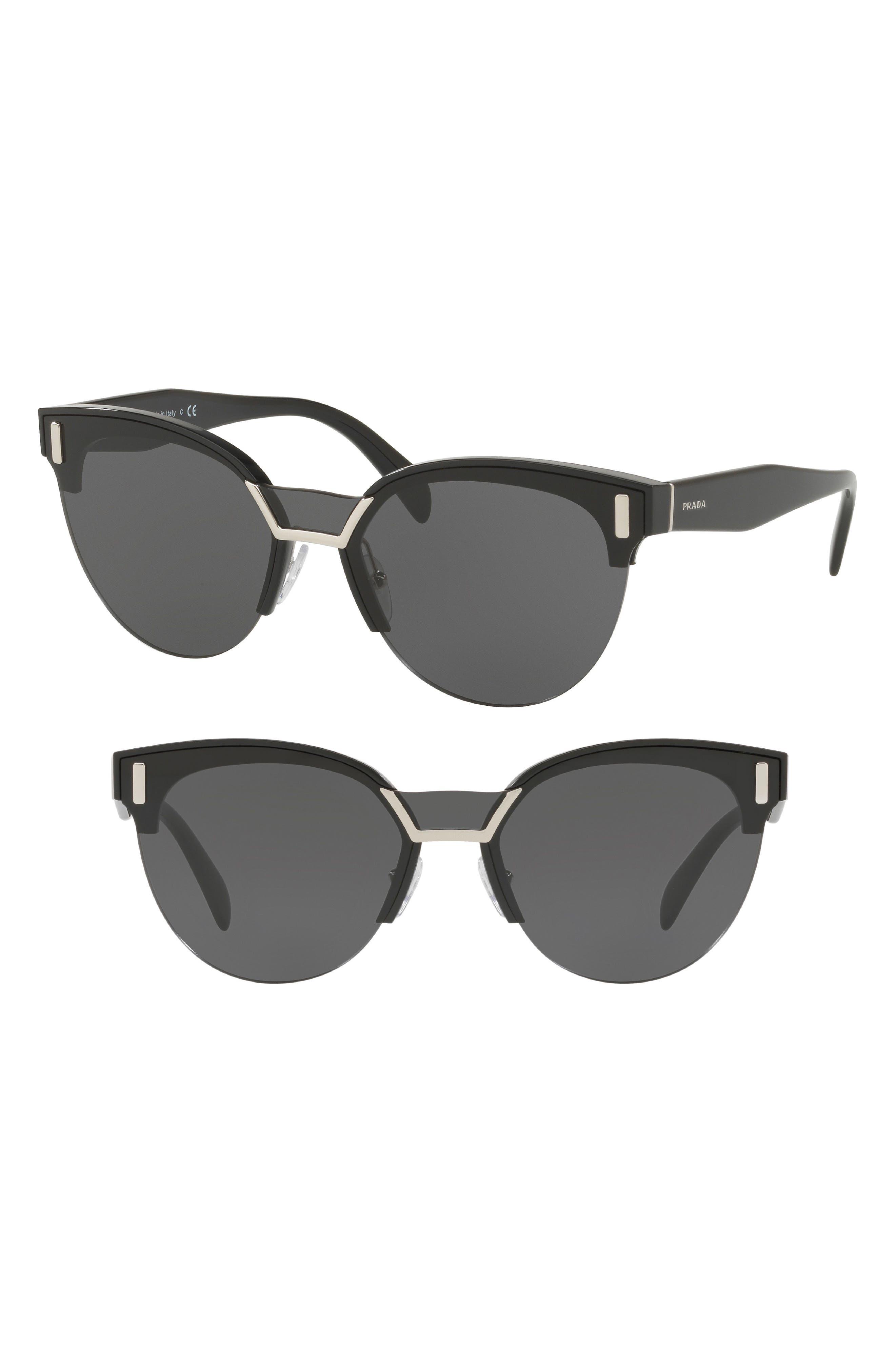 50mm Angular Sunglasses,                             Main thumbnail 1, color,                             Black