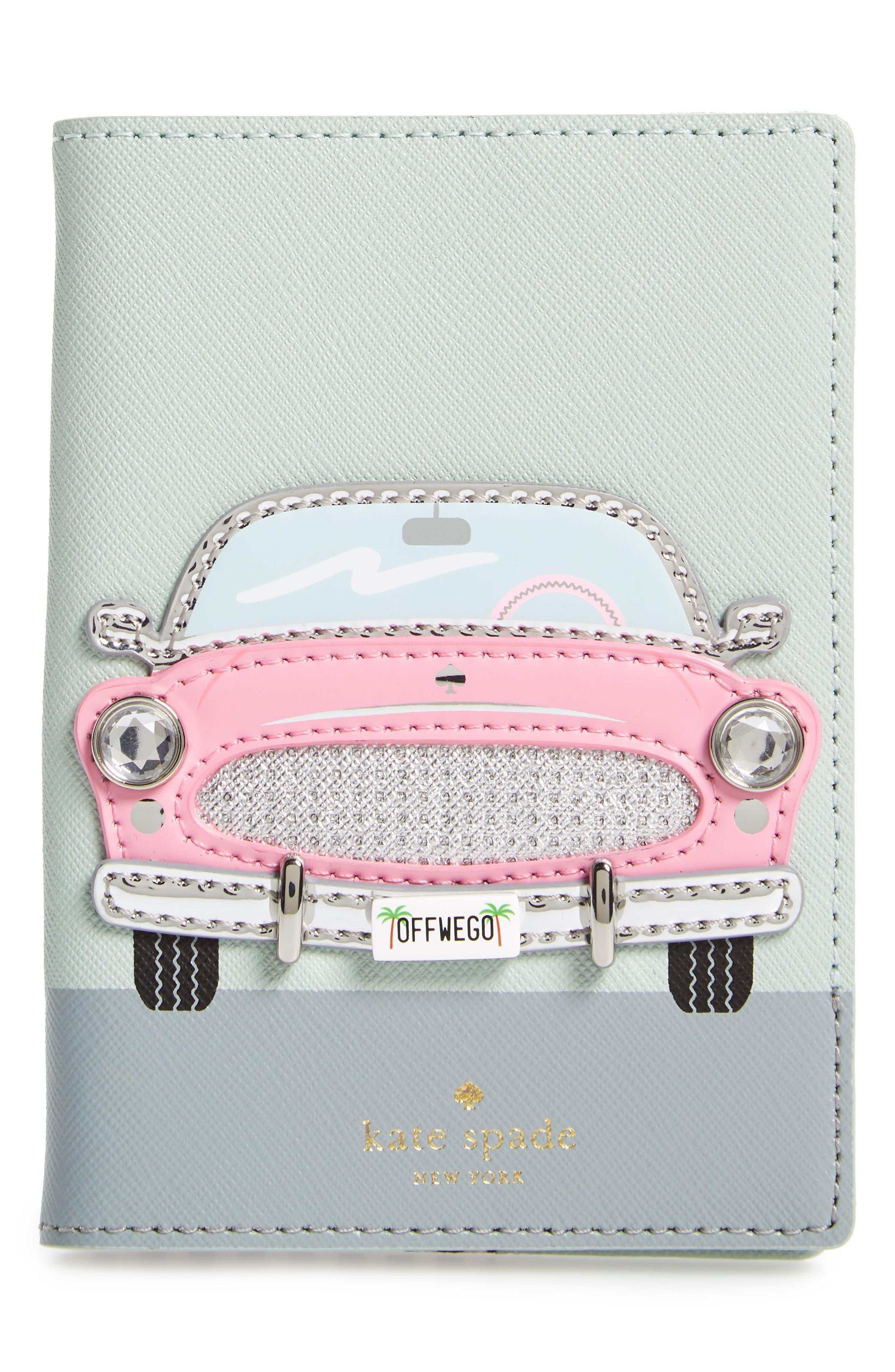 Alternate Image 1 Selected - kate spade new york pink car passport holder