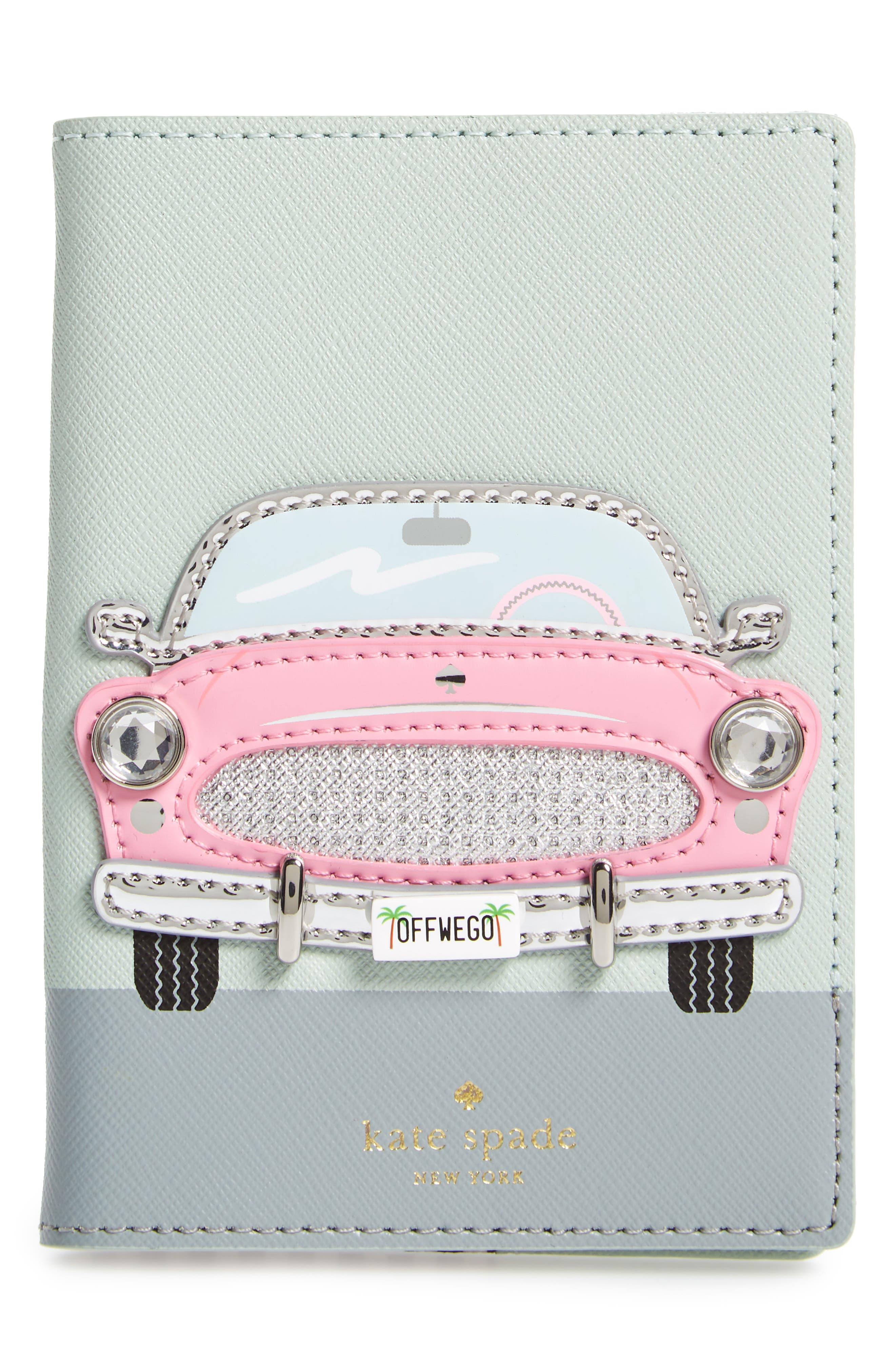 kate spade new york pink car passport holder