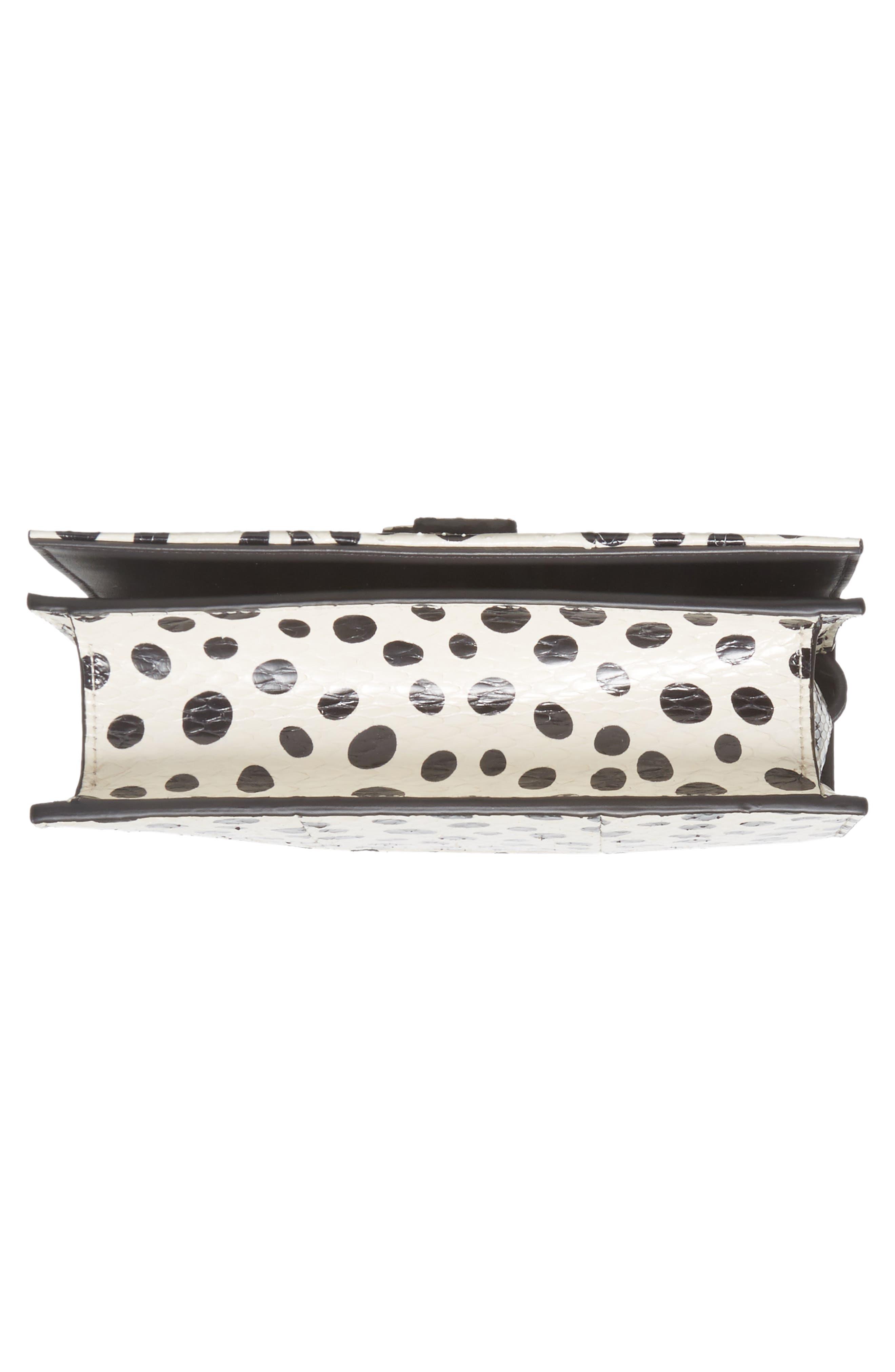Toy Kate Painted Genuine Snakeskin Shoulder Bag,                             Alternate thumbnail 6, color,                             White/ Black