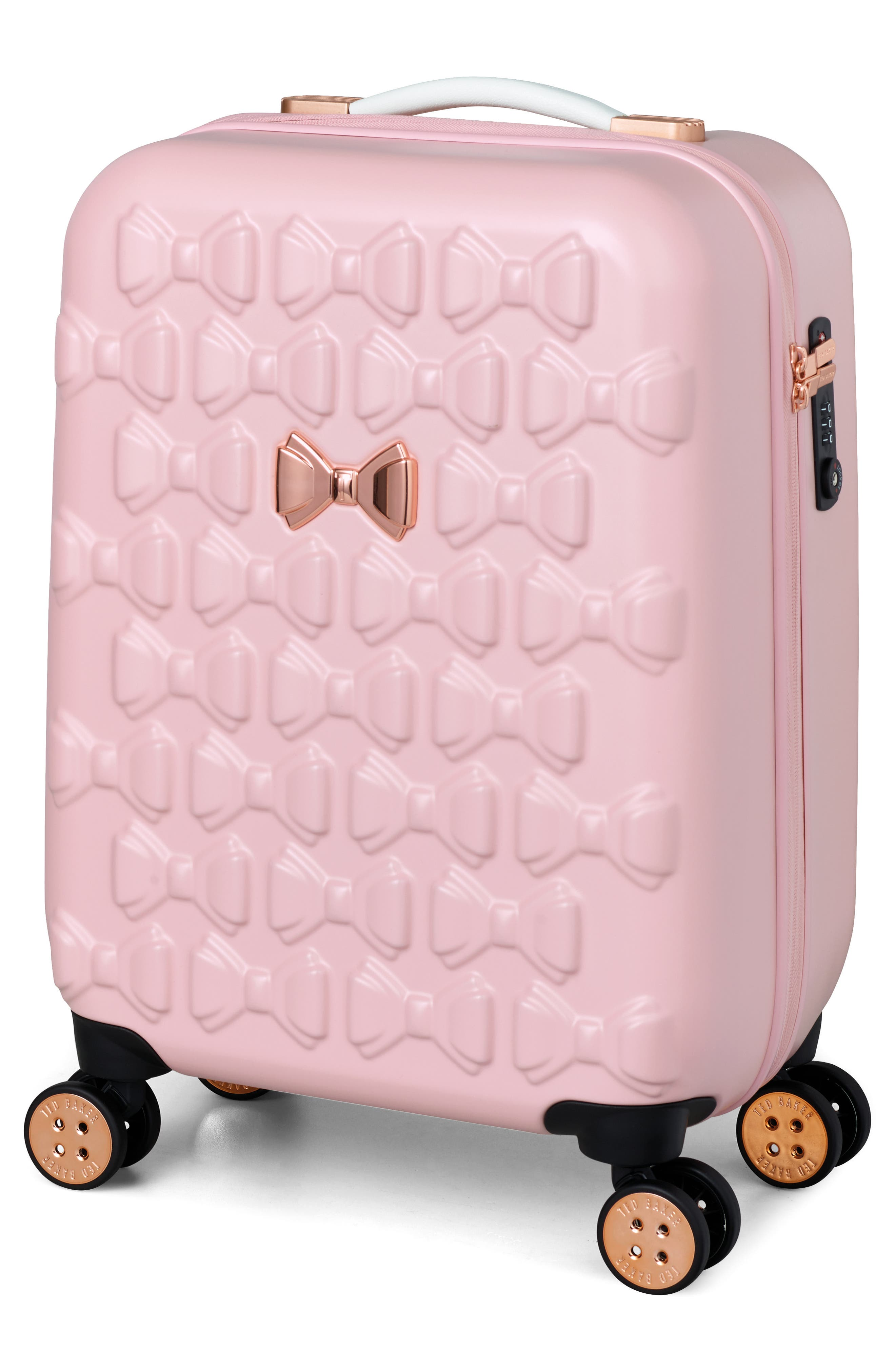 Alternate Image 1 Selected - Ted Baker London Small Beau 22-Inch Bow Embossed Four-Wheel Trolley Suitcase