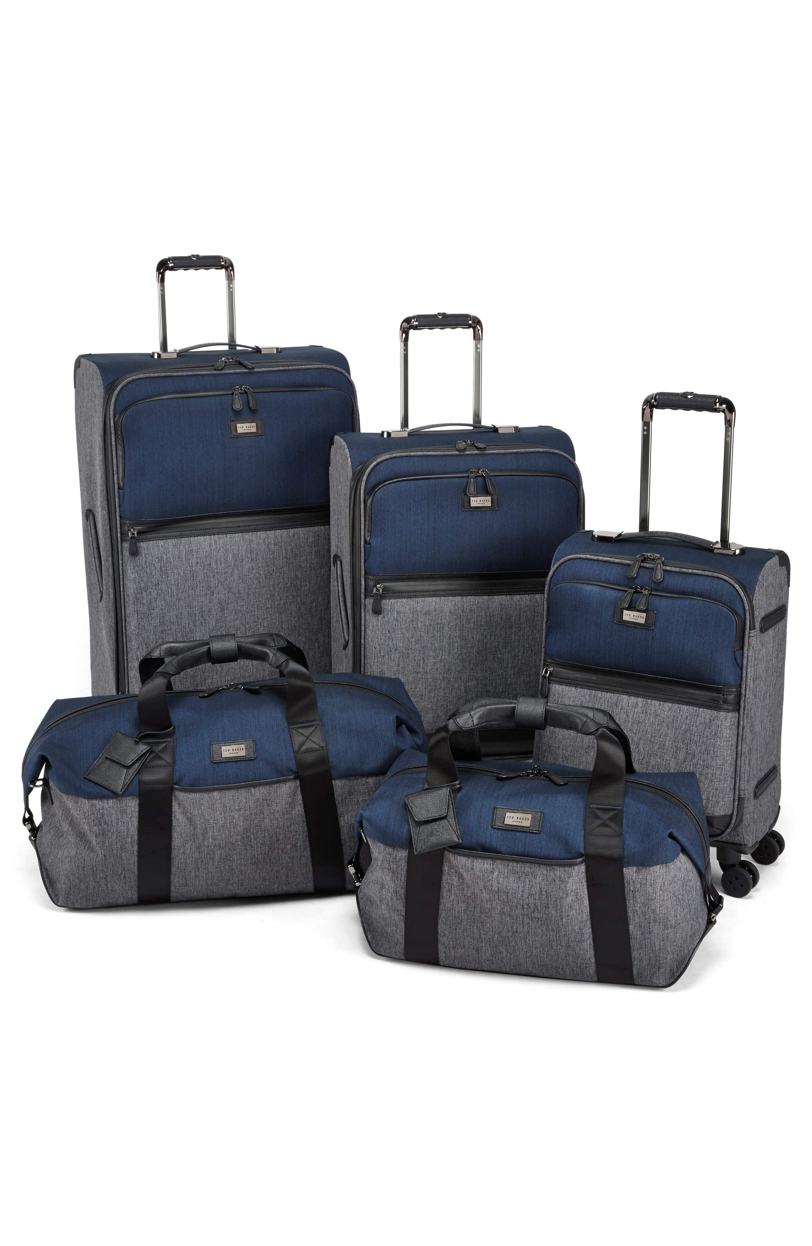 Brunswick 27-Inch Rolling Suitcase,                             Alternate thumbnail 6, color,                             Grey