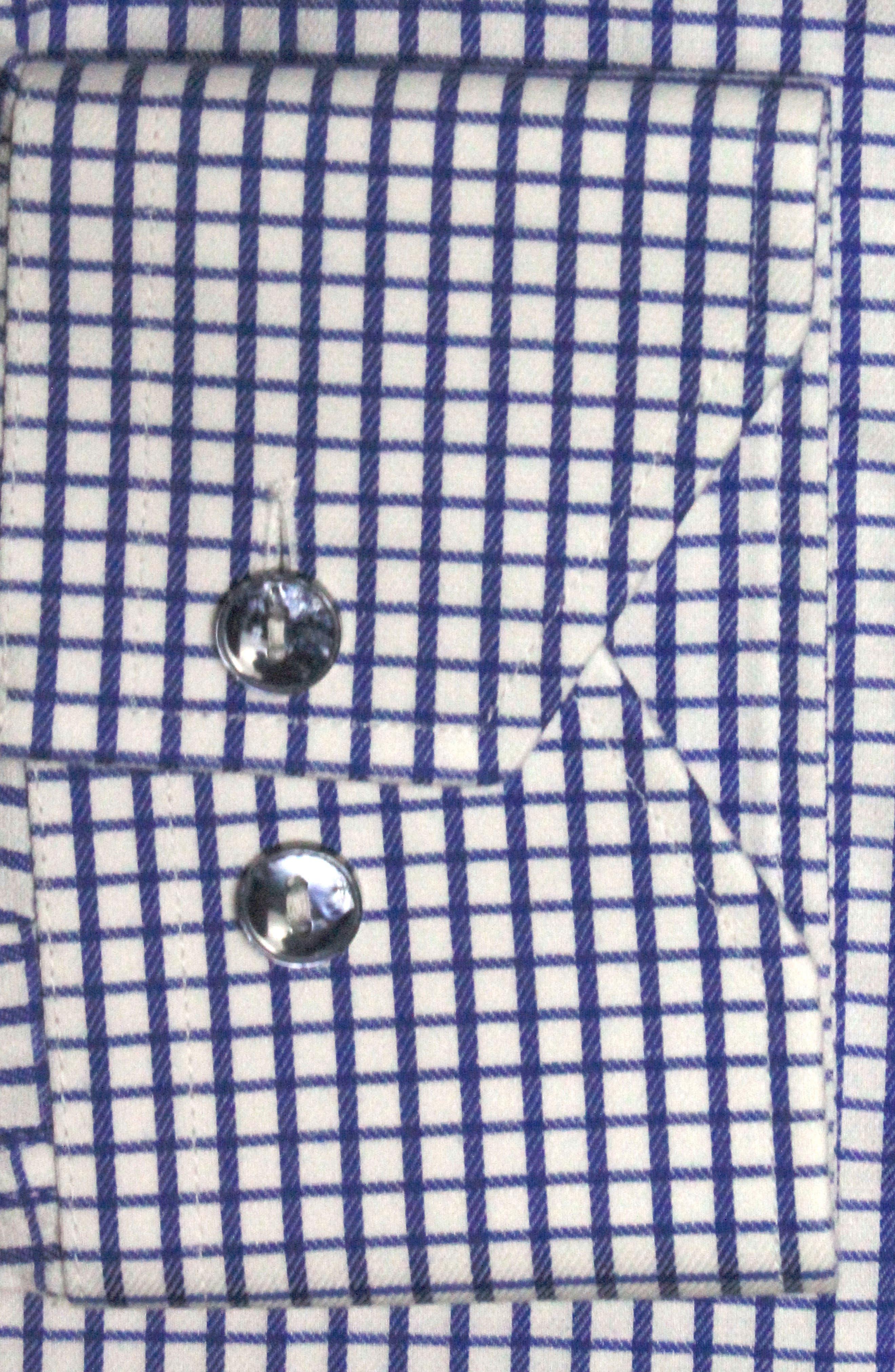 Trim Fit Check Dress Shirt,                             Alternate thumbnail 2, color,                             Navy/ White