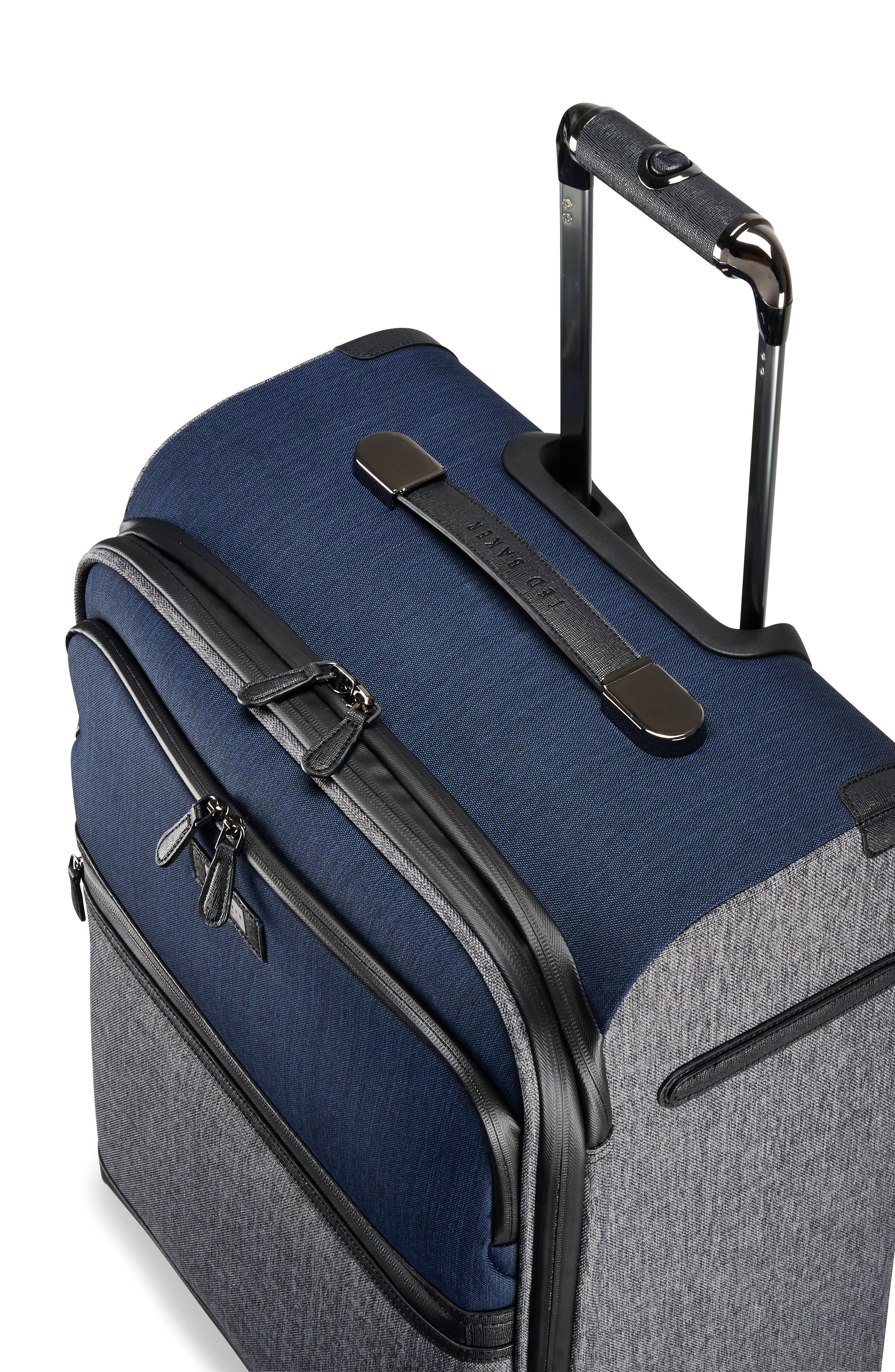 Brunswick 27-Inch Rolling Suitcase,                             Alternate thumbnail 8, color,                             Grey