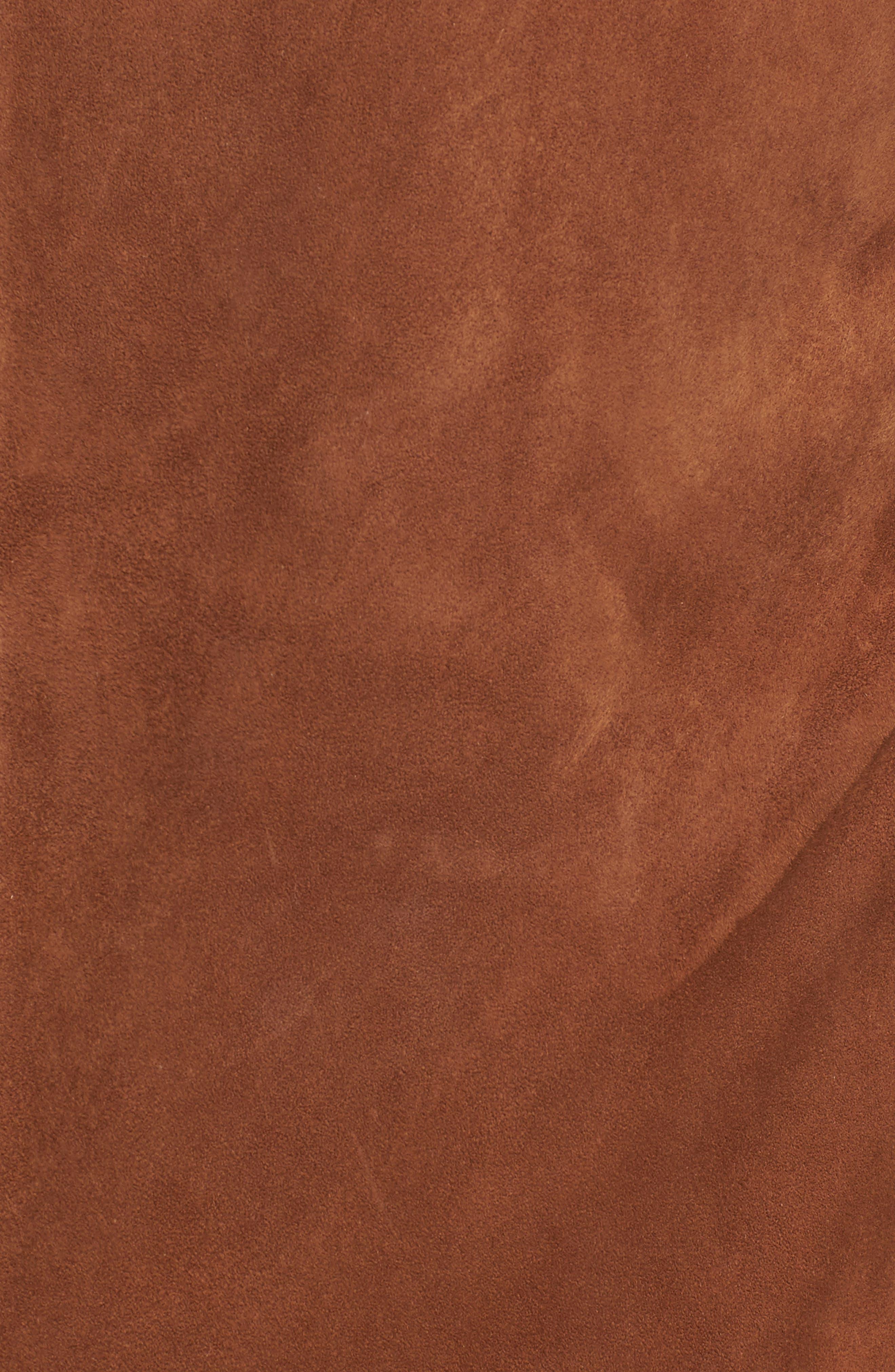 Noland Radic Lambskin Jacket,                             Alternate thumbnail 5, color,                             Tobacco