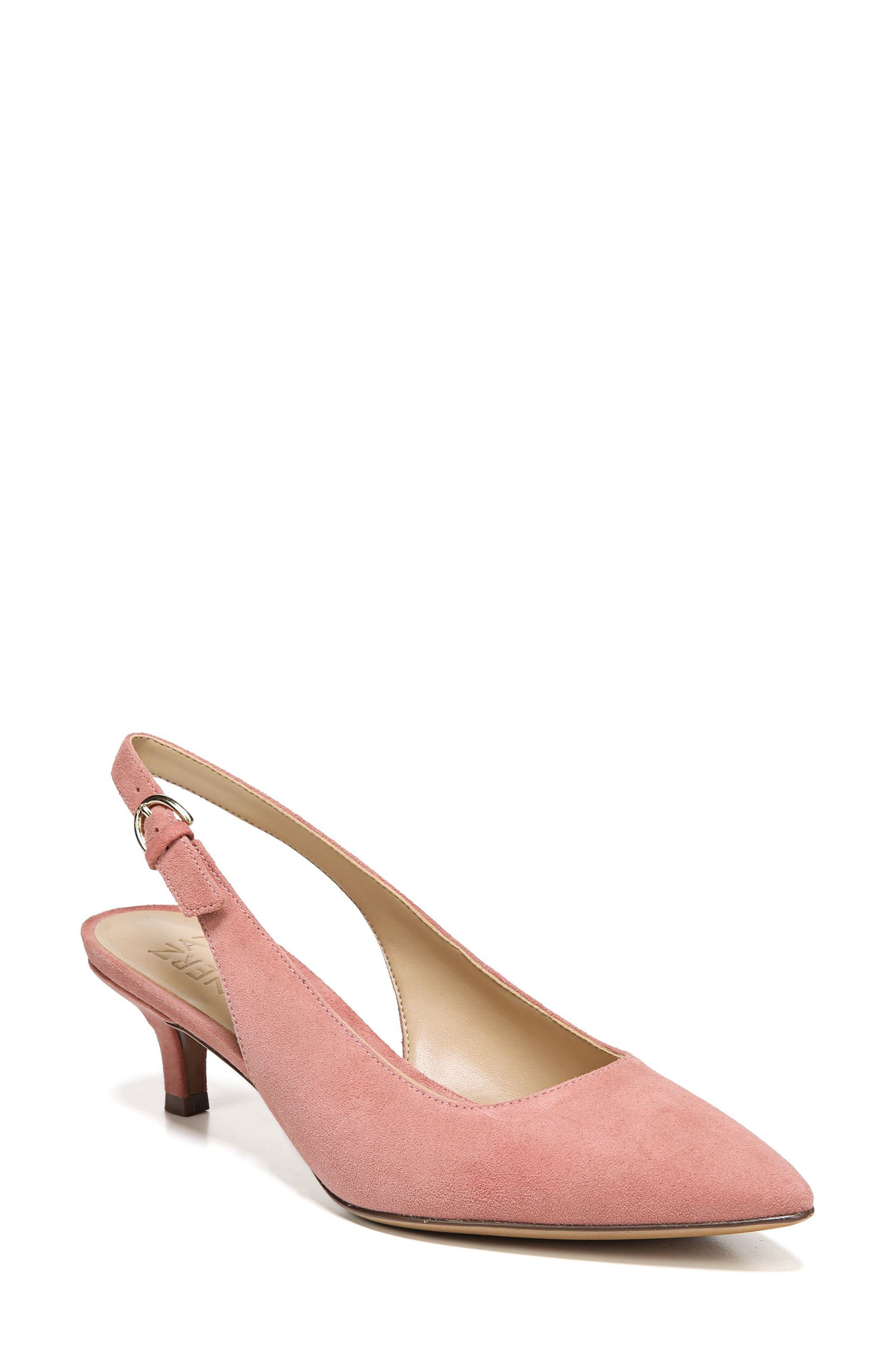 Peyton Slingback Pump,                         Main,                         color, Pink Leather