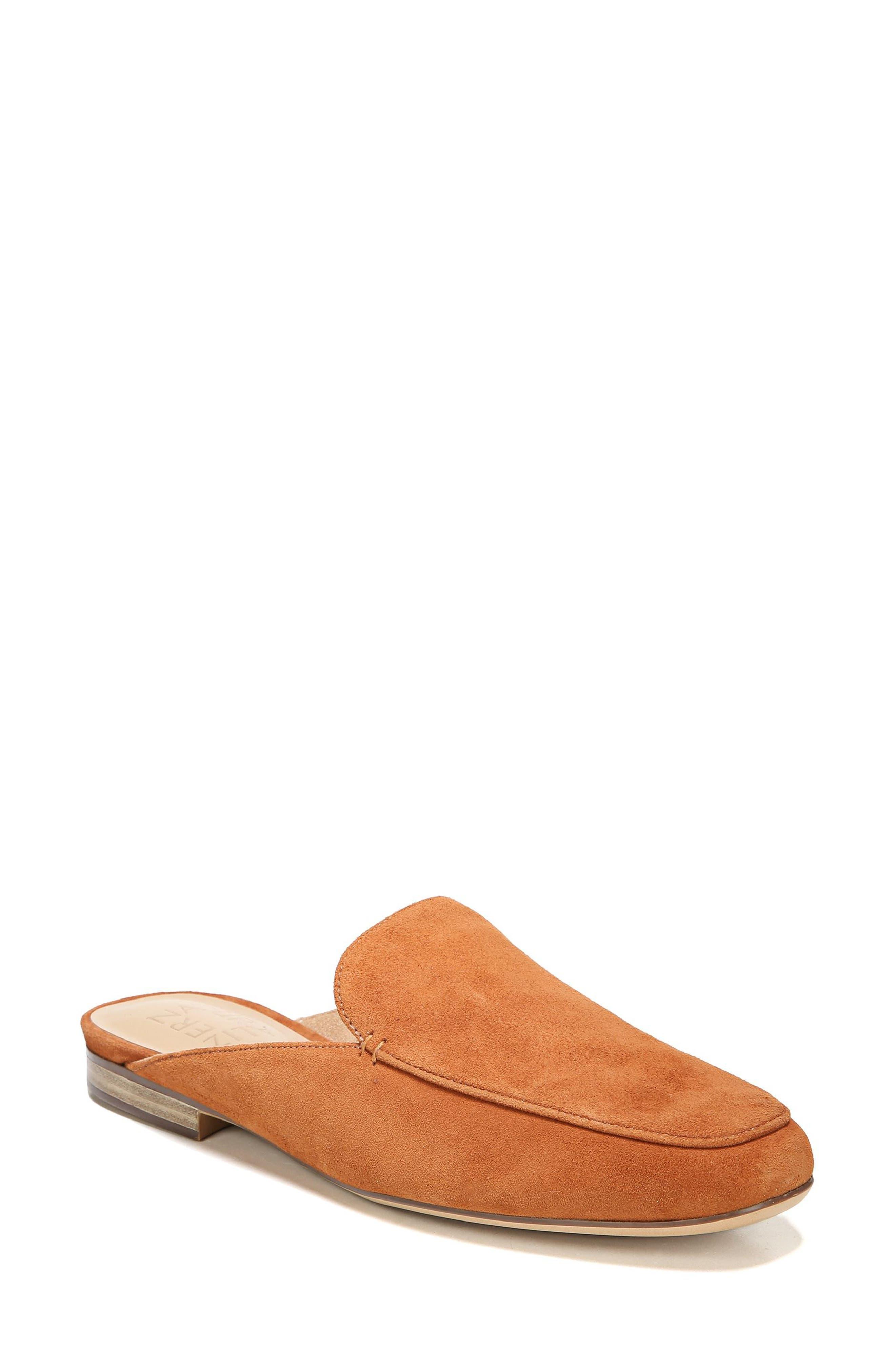 Eden Mule,                         Main,                         color, Light Maple Leather