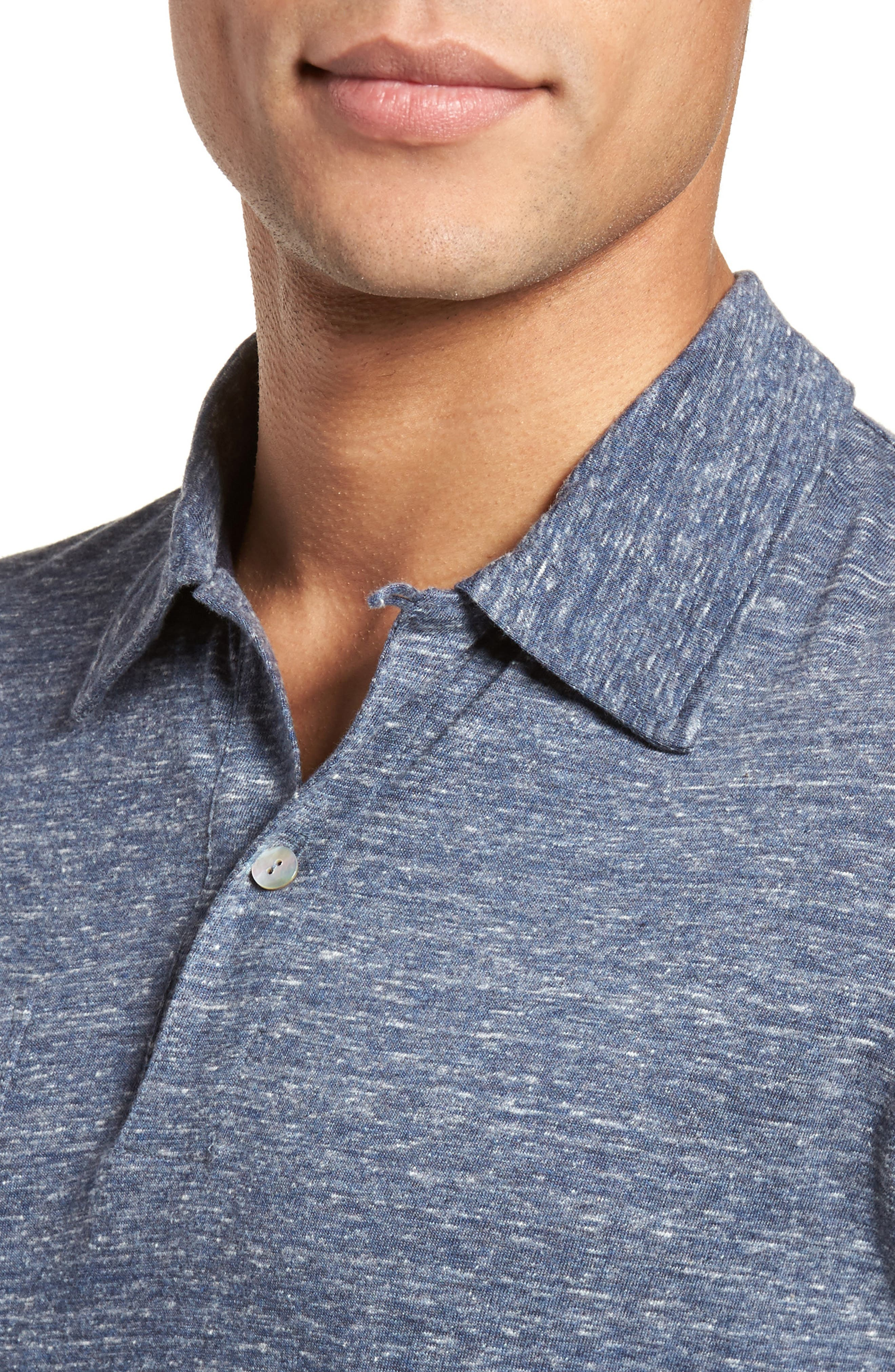 Owen Slim Fit Polo,                             Alternate thumbnail 4, color,                             Blue Mix