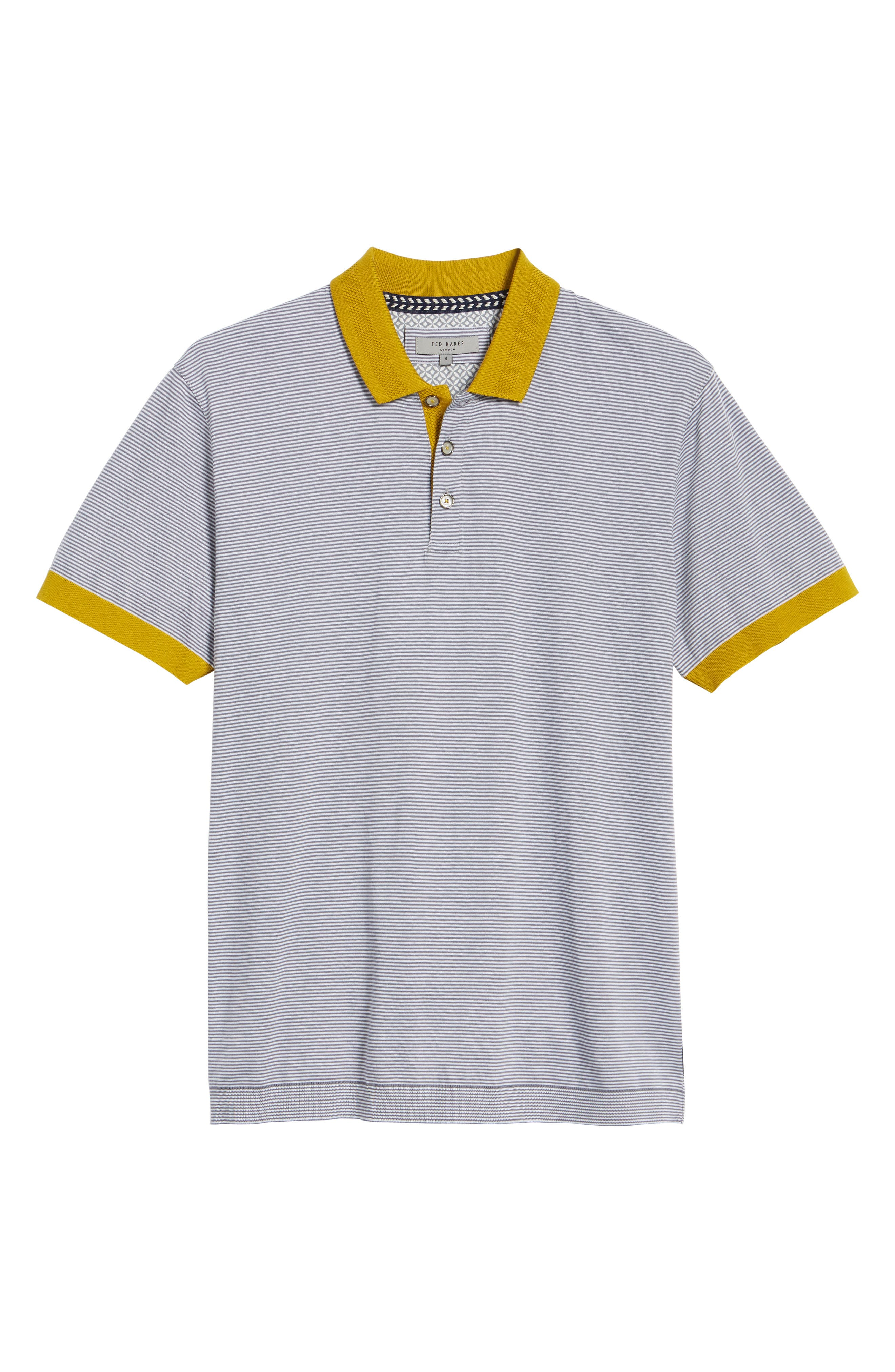 Alternate Image 6  - Ted Baker London Beagle Trim Fit Stripe Jersey Polo