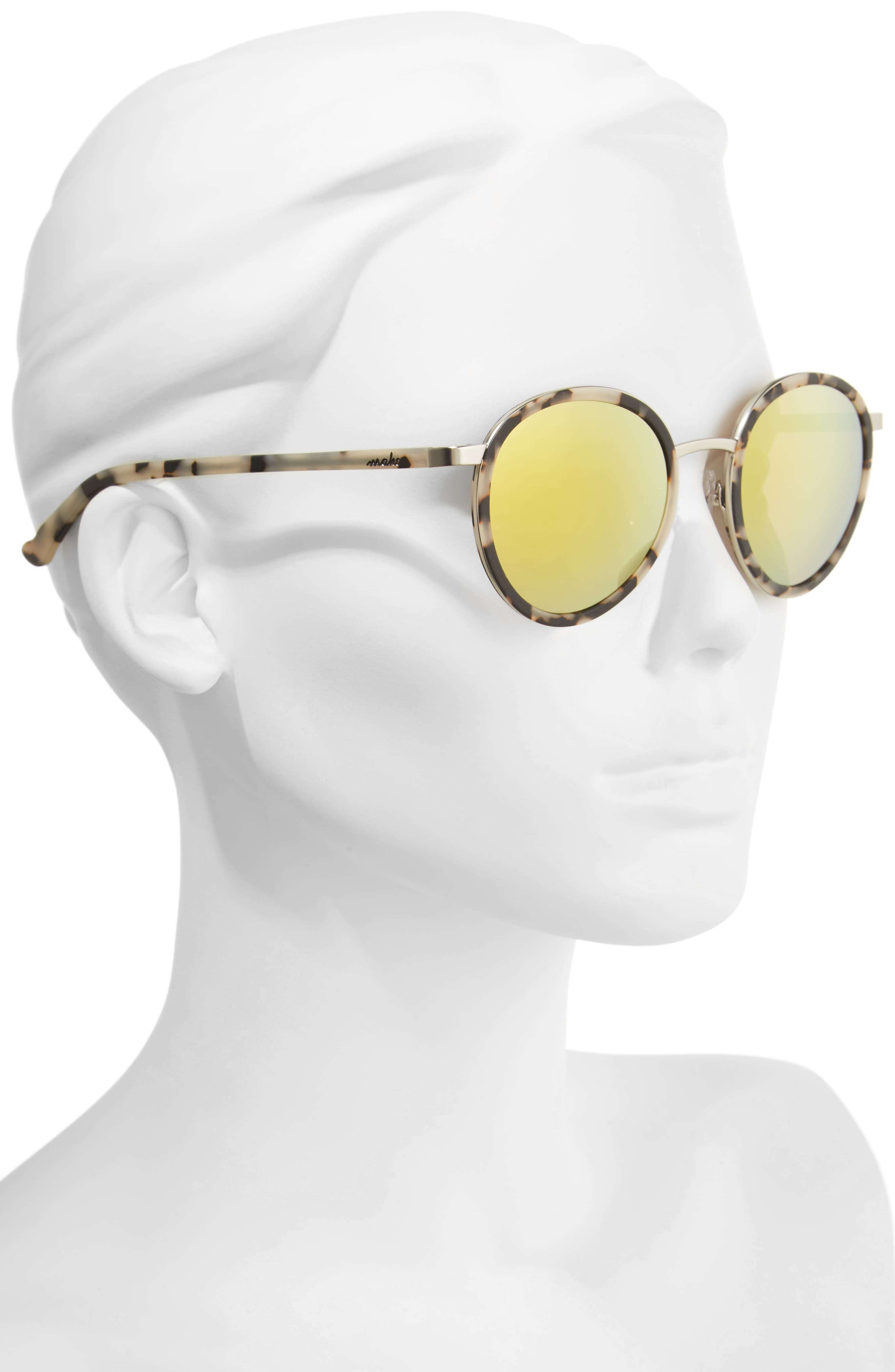Alternate Image 2  - Maho Cabo 50mm Polarized Round Sunglasses