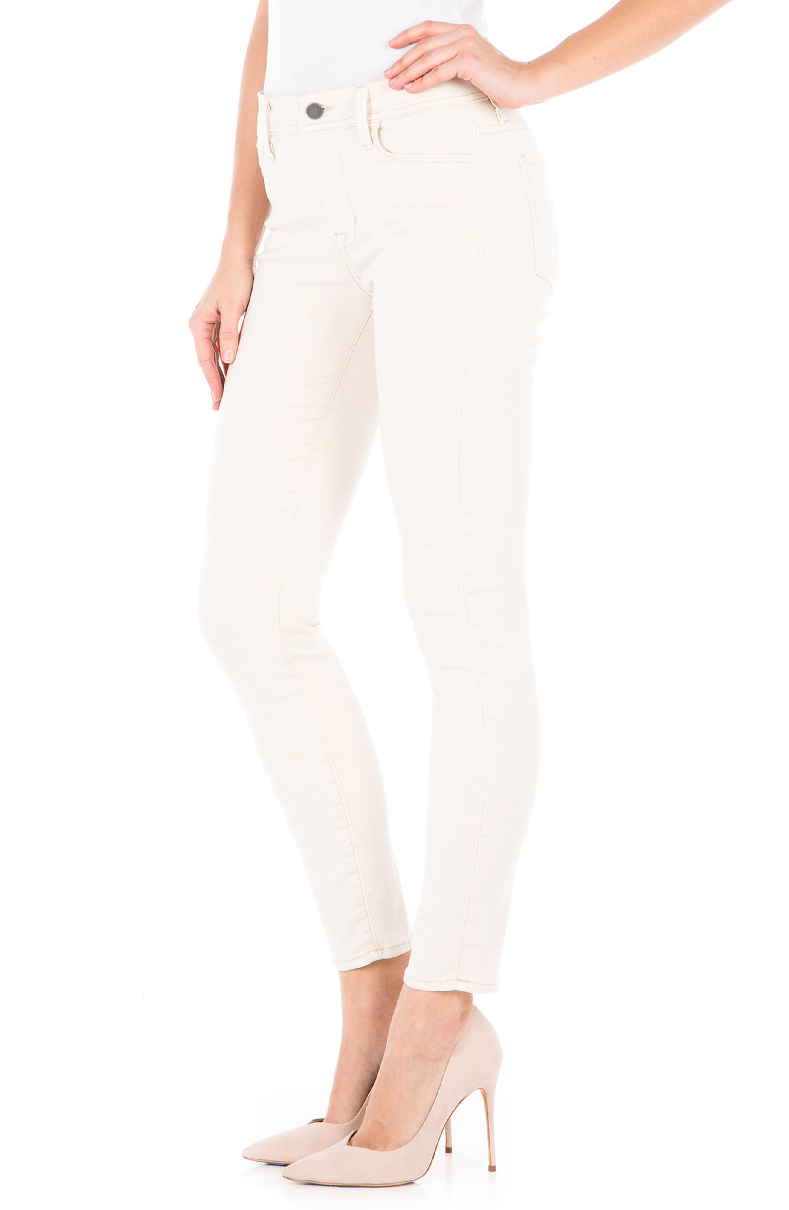 Alternate Image 3  - Fidelity Denim Sola Skinny Jeans (White Rabbit)