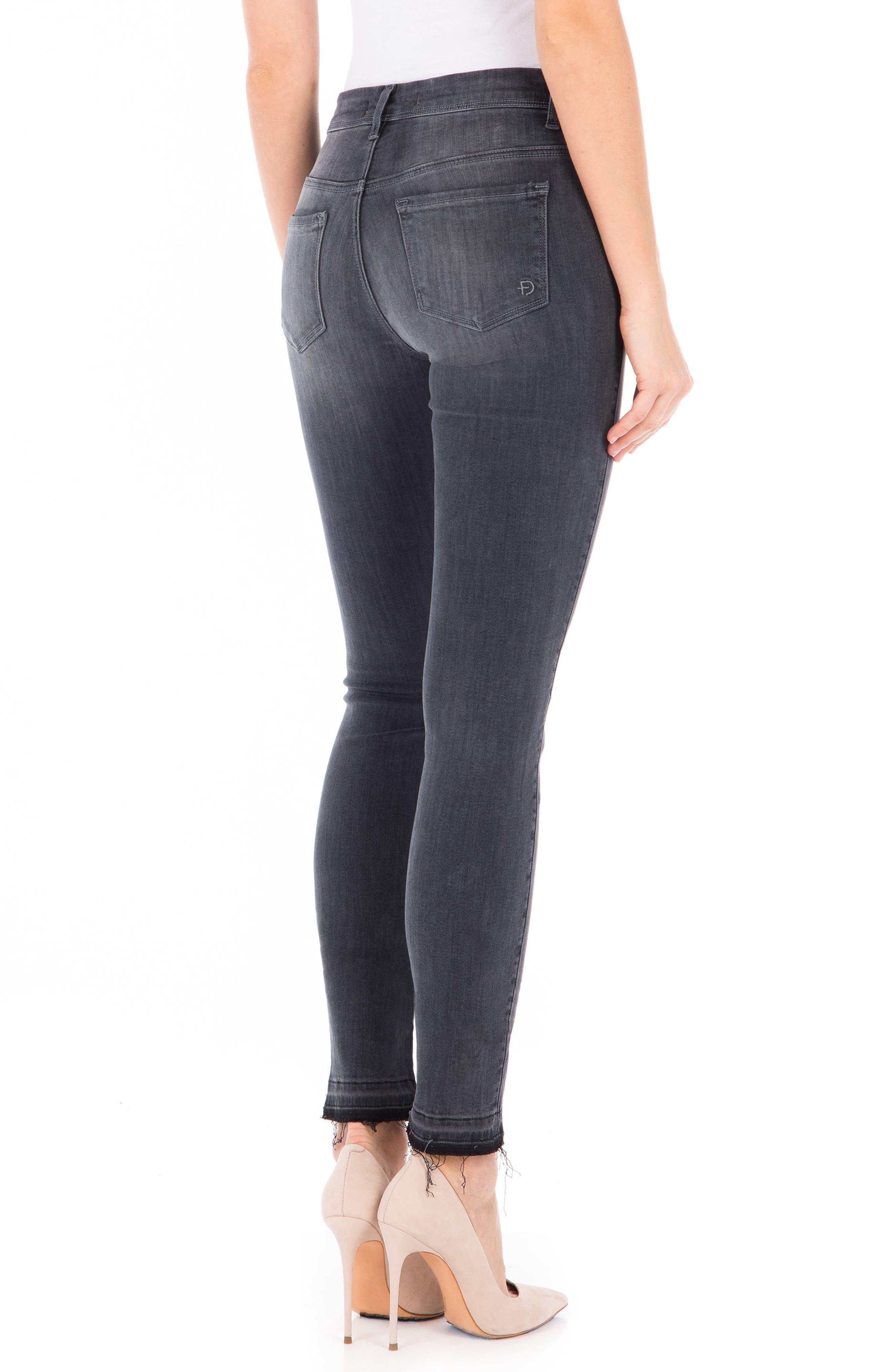 Gwen High Waist Skinny Jeans,                             Alternate thumbnail 2, color,                             Mystic Black