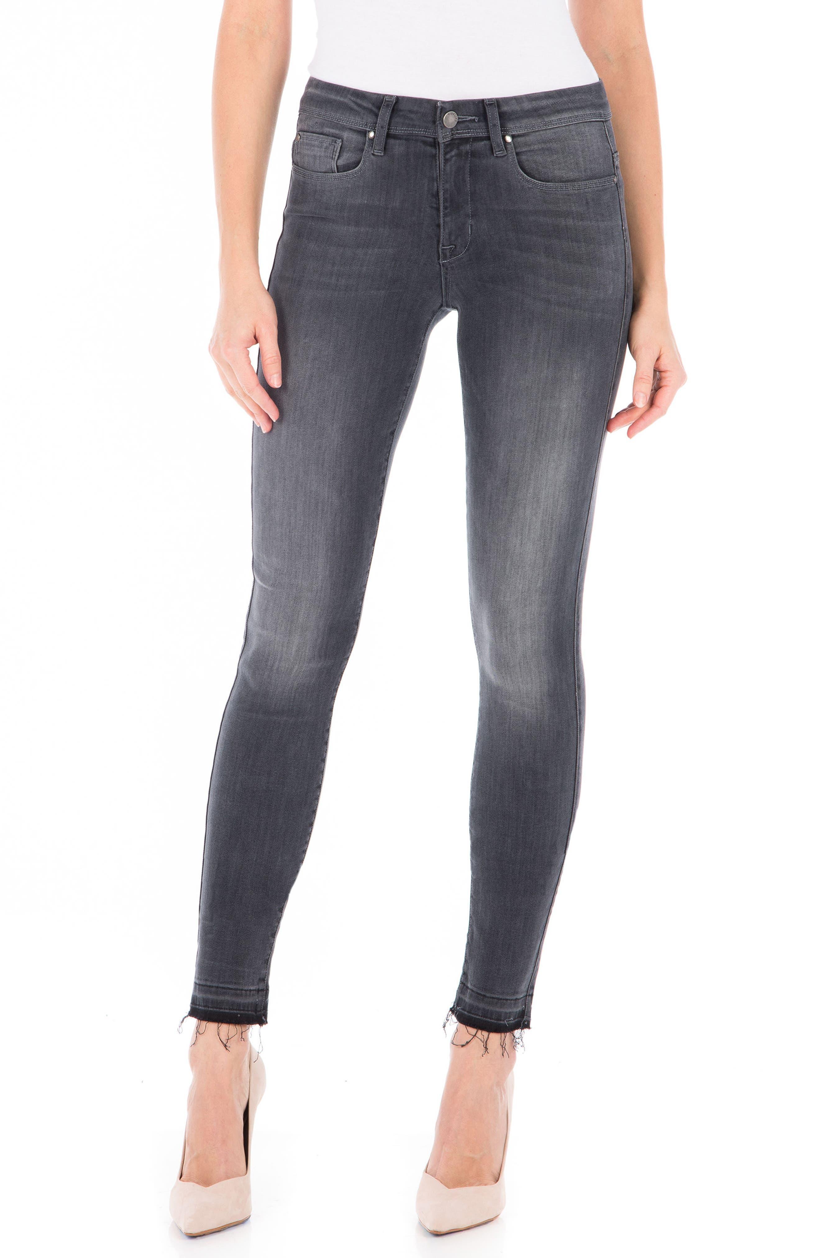 Gwen High Waist Skinny Jeans,                             Main thumbnail 1, color,                             Mystic Black
