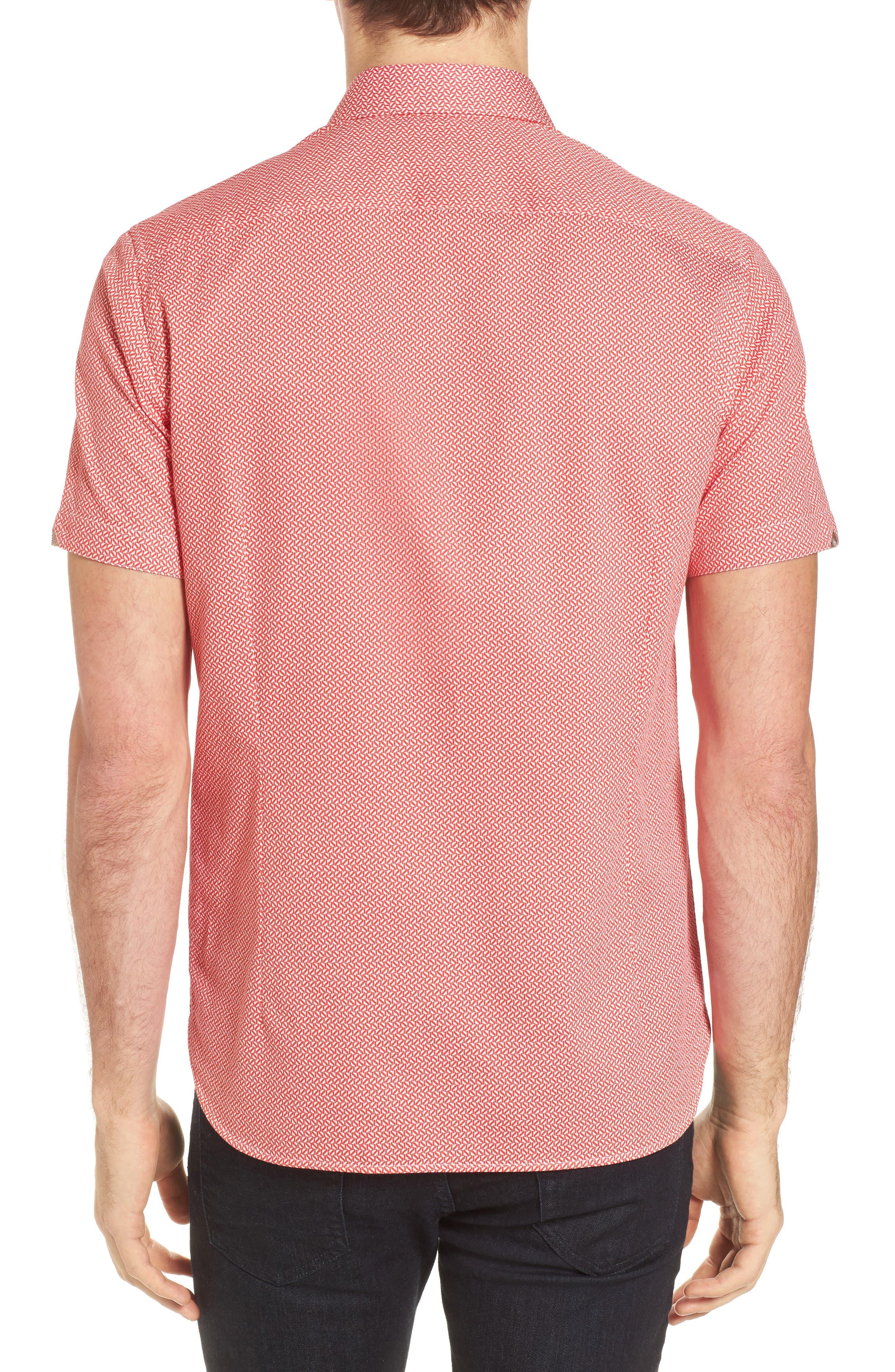 Alternate Image 2  - Ted Baker London Slim Fit Print Sport Shirt