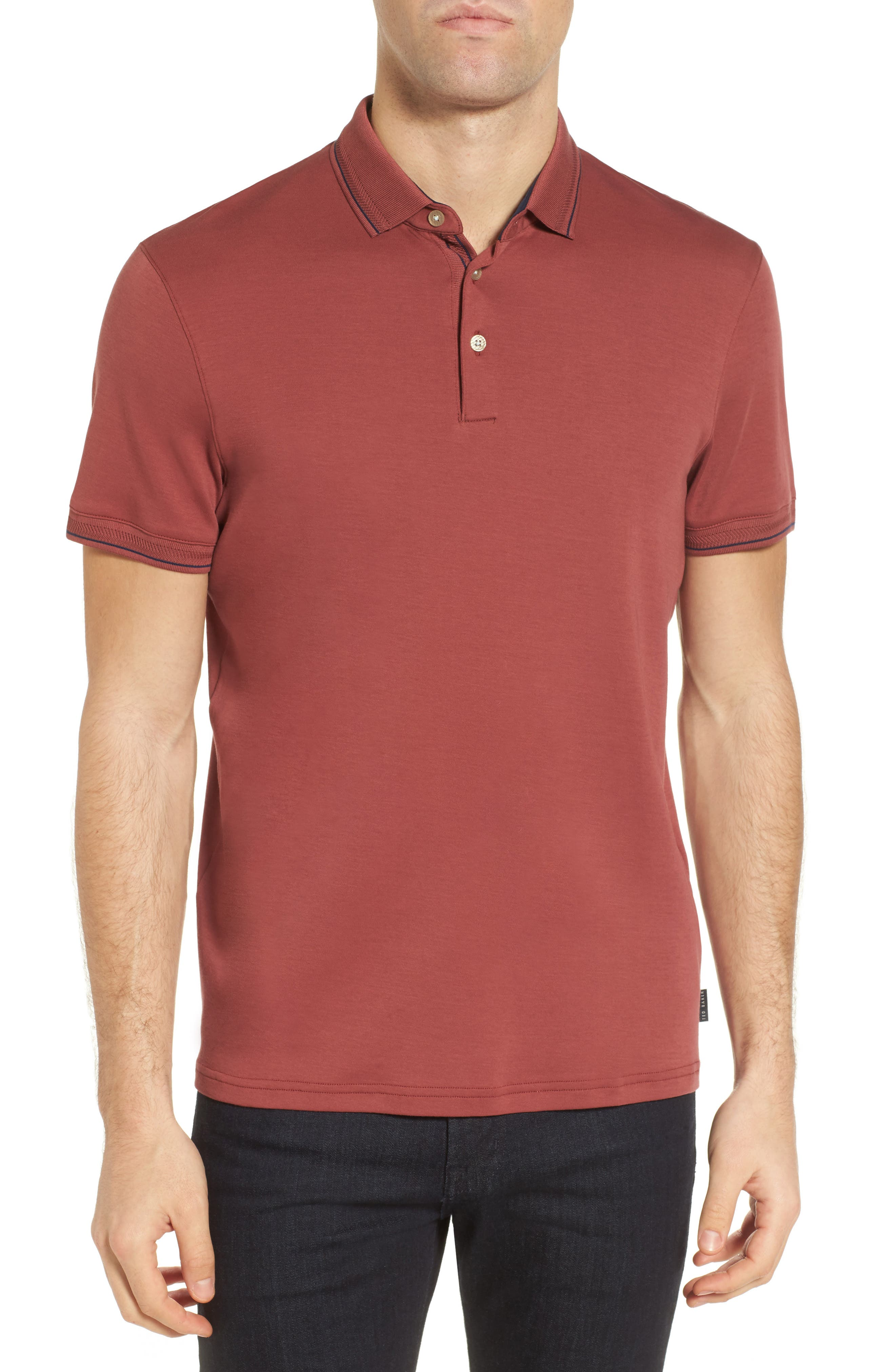 Ted Baker London Pug Trim Fit Stripe Polo