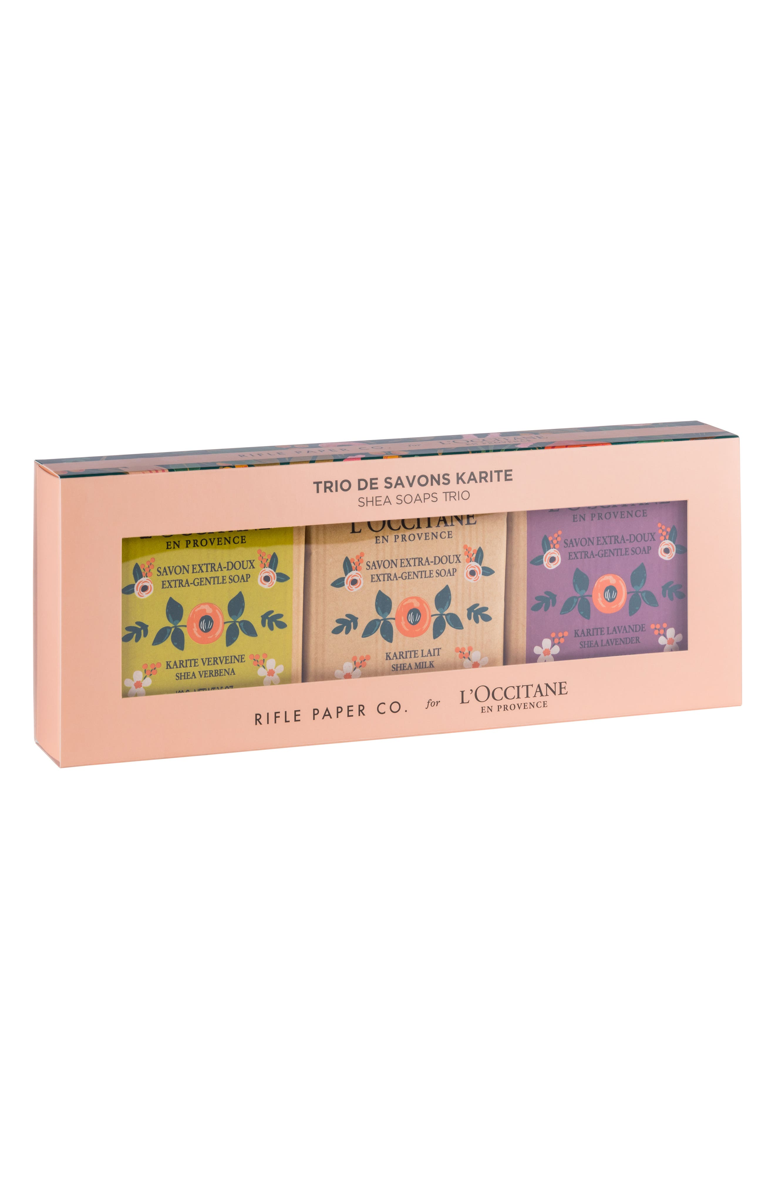 L'Occitane Rifle Paper Co. Shea Soap Trio