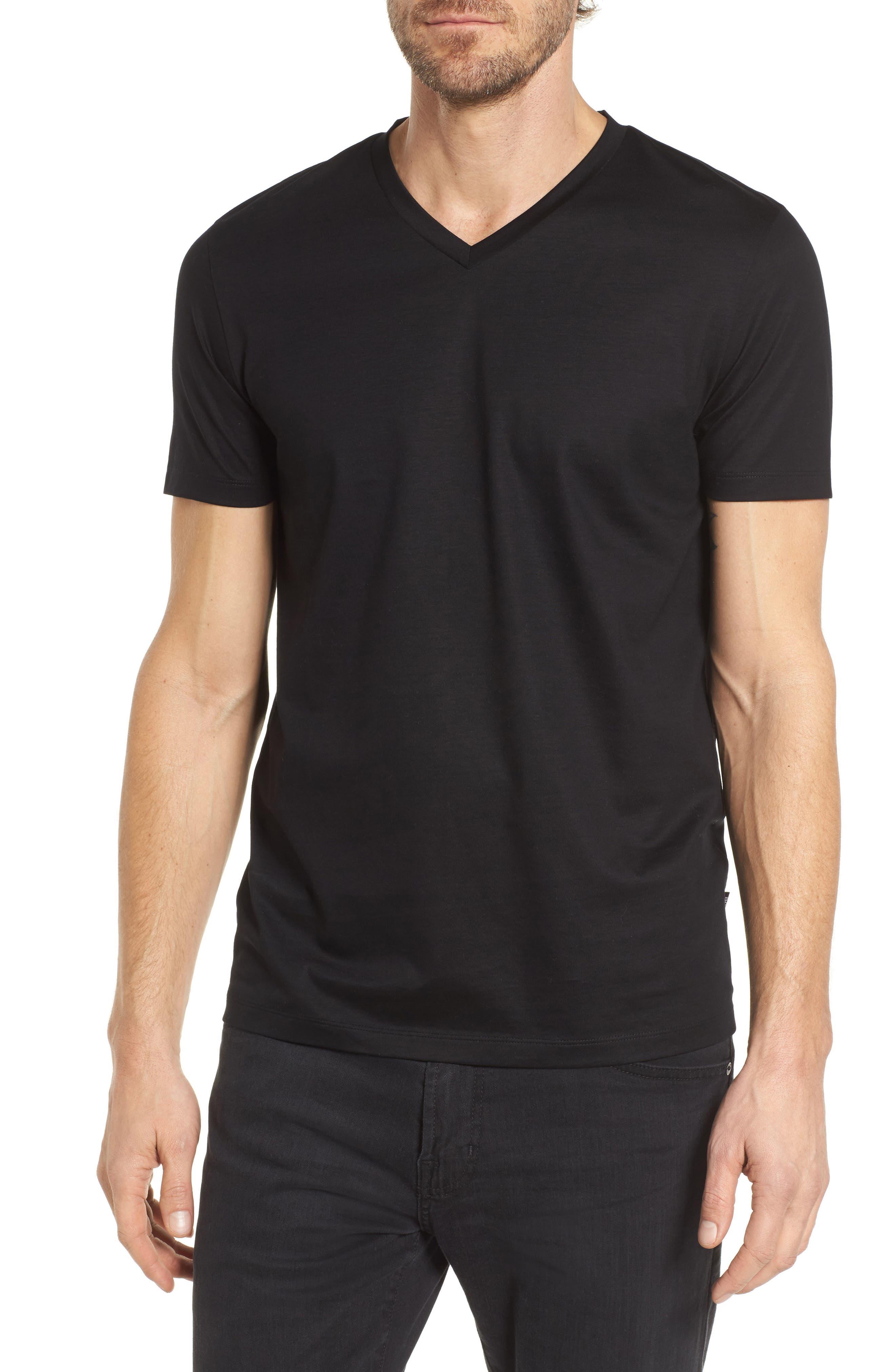 BOSS Teal Slim Fit V-Neck T-Shirt