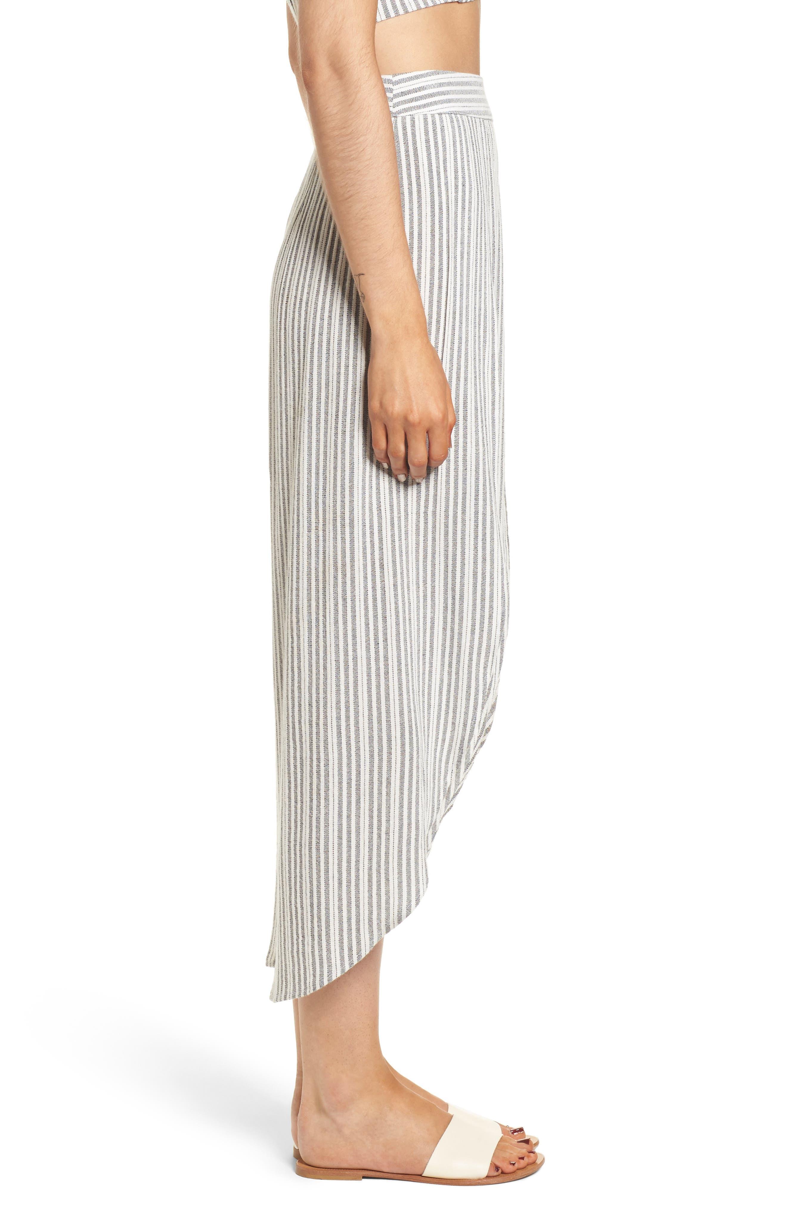 Kika Stripe Split Culottes,                             Alternate thumbnail 4, color,                             Grey