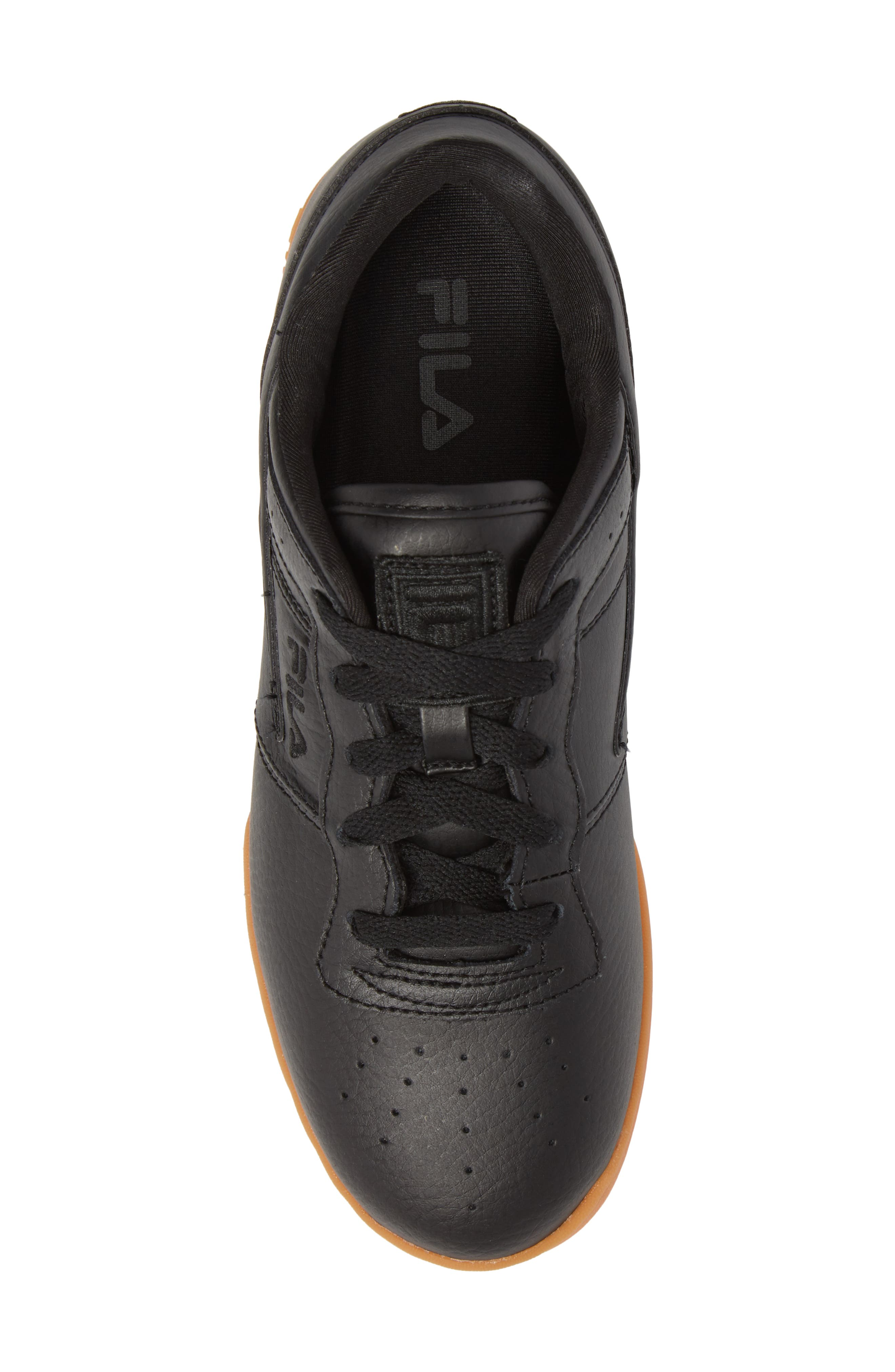 Original Fitness Sneaker,                             Alternate thumbnail 5, color,                             Black/ Gum