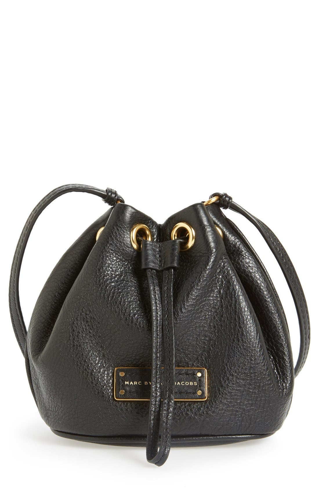 Alternate Image 1 Selected - MARC BY MARC JACOBS 'Too Hot to Handle' Leather Drawstring Bag