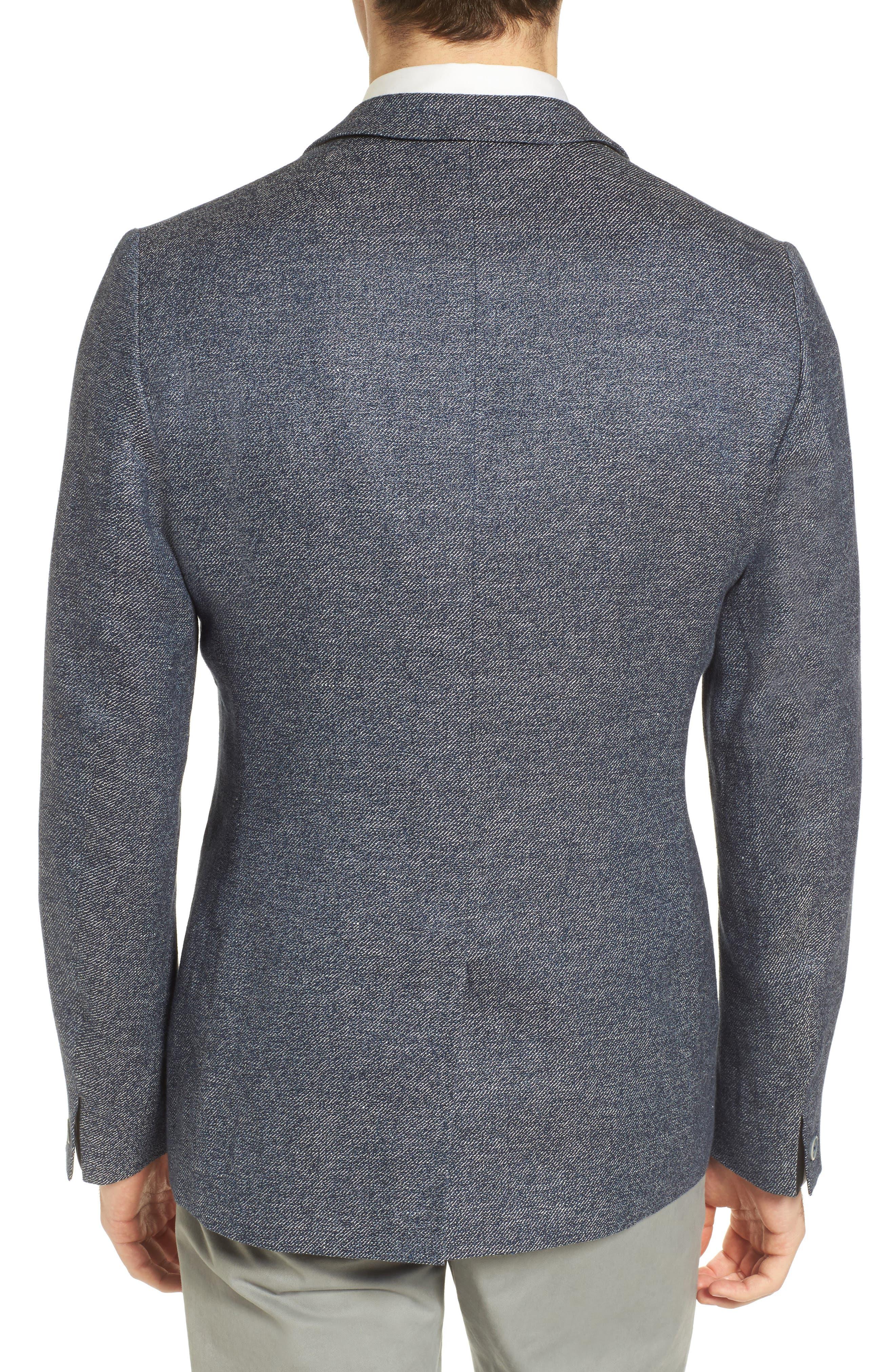 Cheea Trim Fit Mouline Sport Coat,                             Alternate thumbnail 2, color,                             Blue