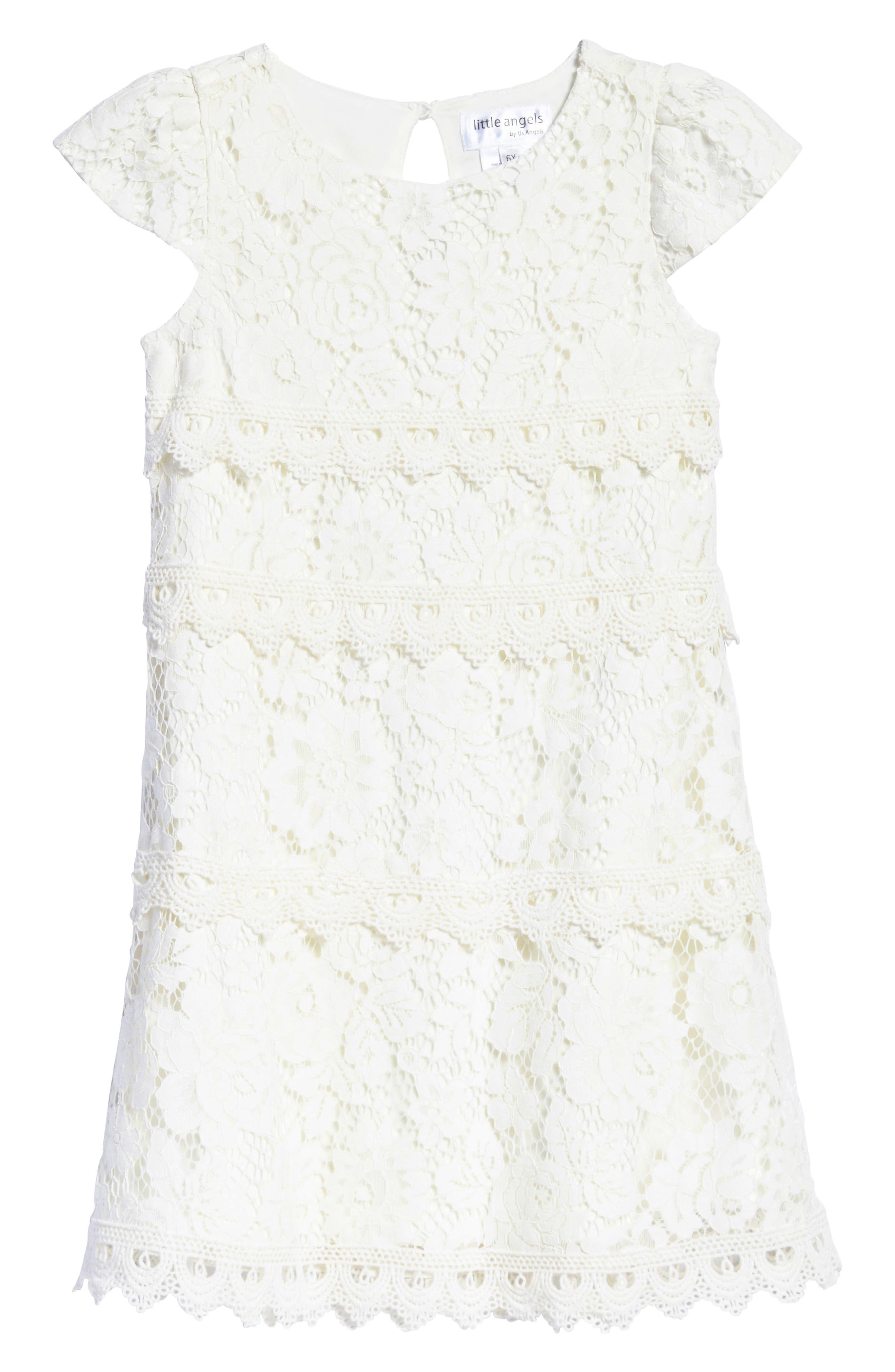 Lace Shift Dress,                             Main thumbnail 1, color,                             Ivory