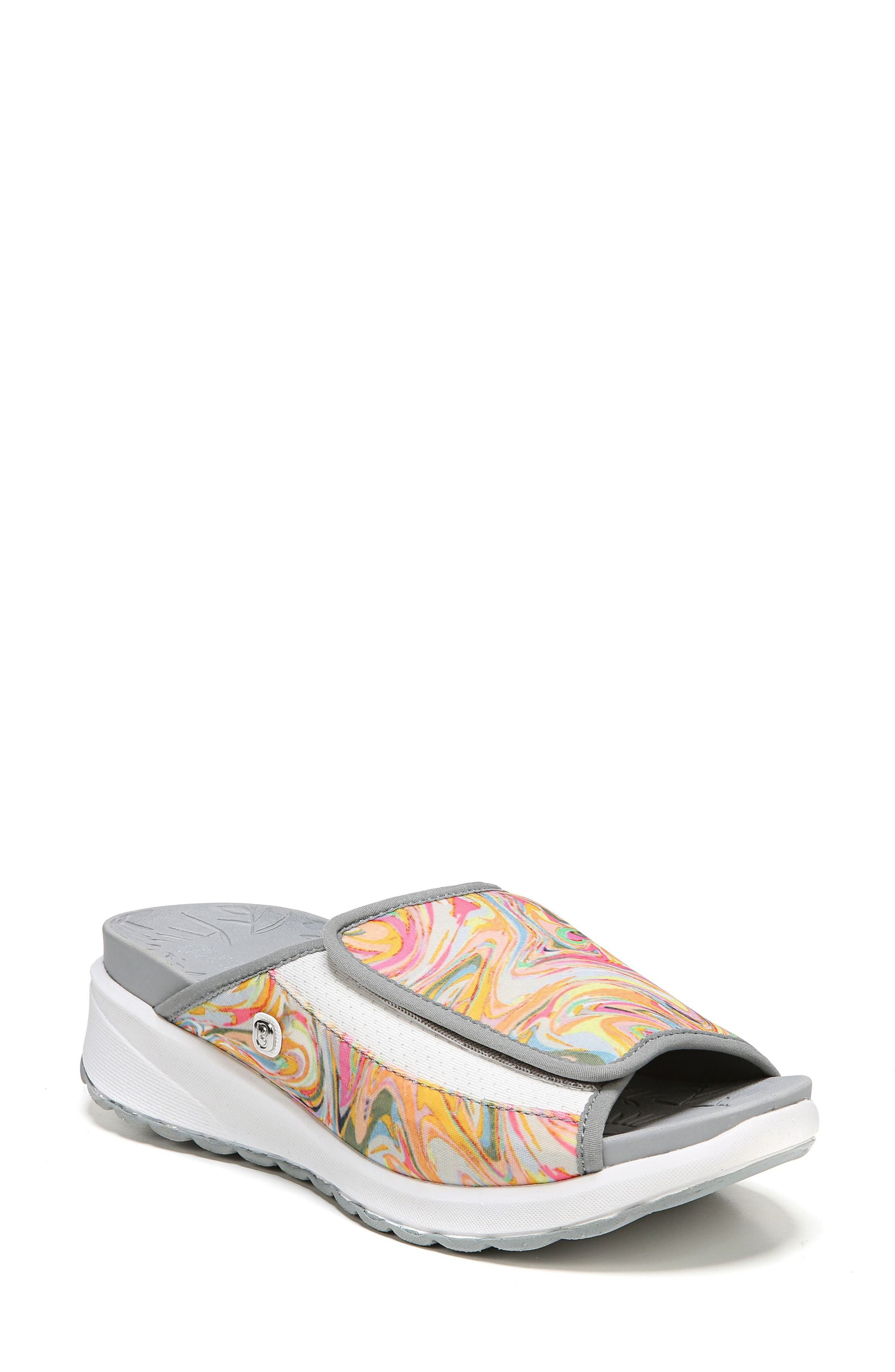 Galaxy Slide Sandal,                             Main thumbnail 1, color,                             Lava Fabric