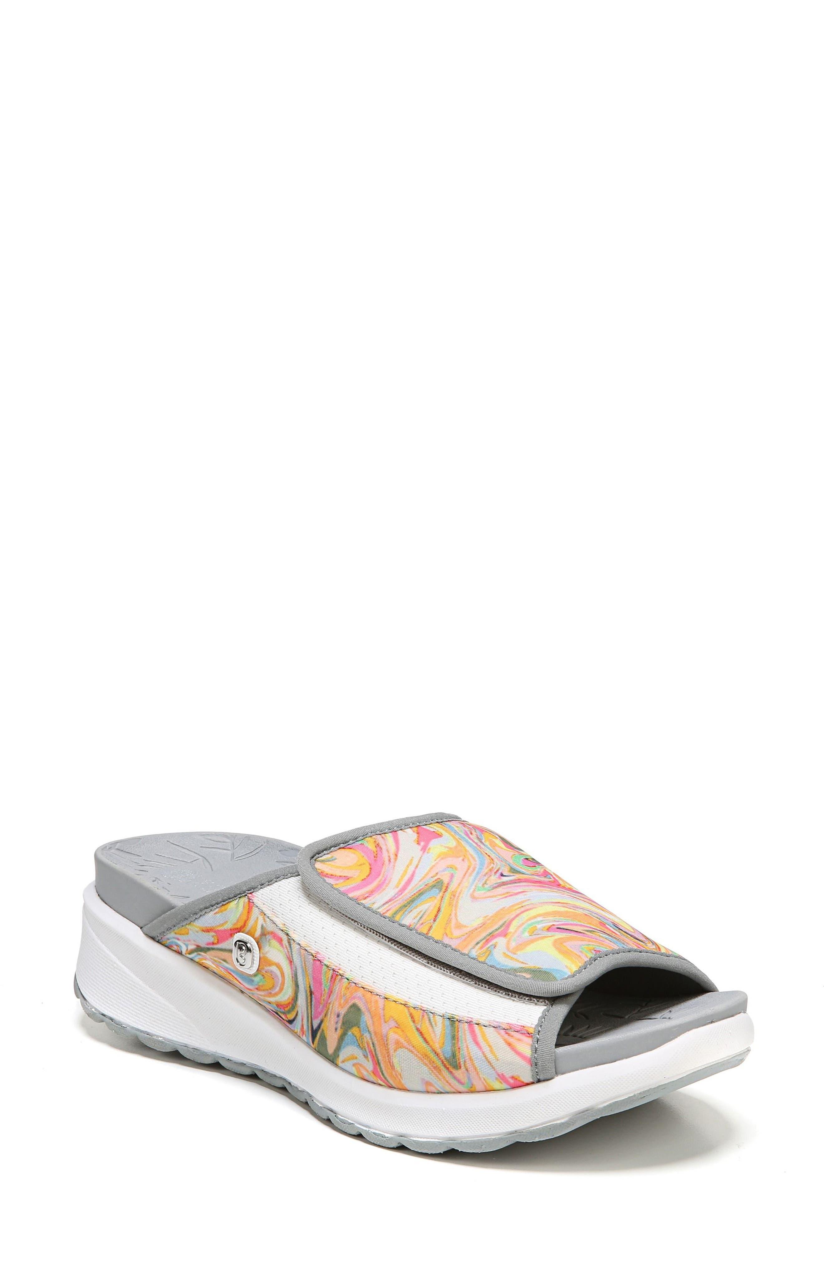 Galaxy Slide Sandal,                         Main,                         color, Lava Fabric