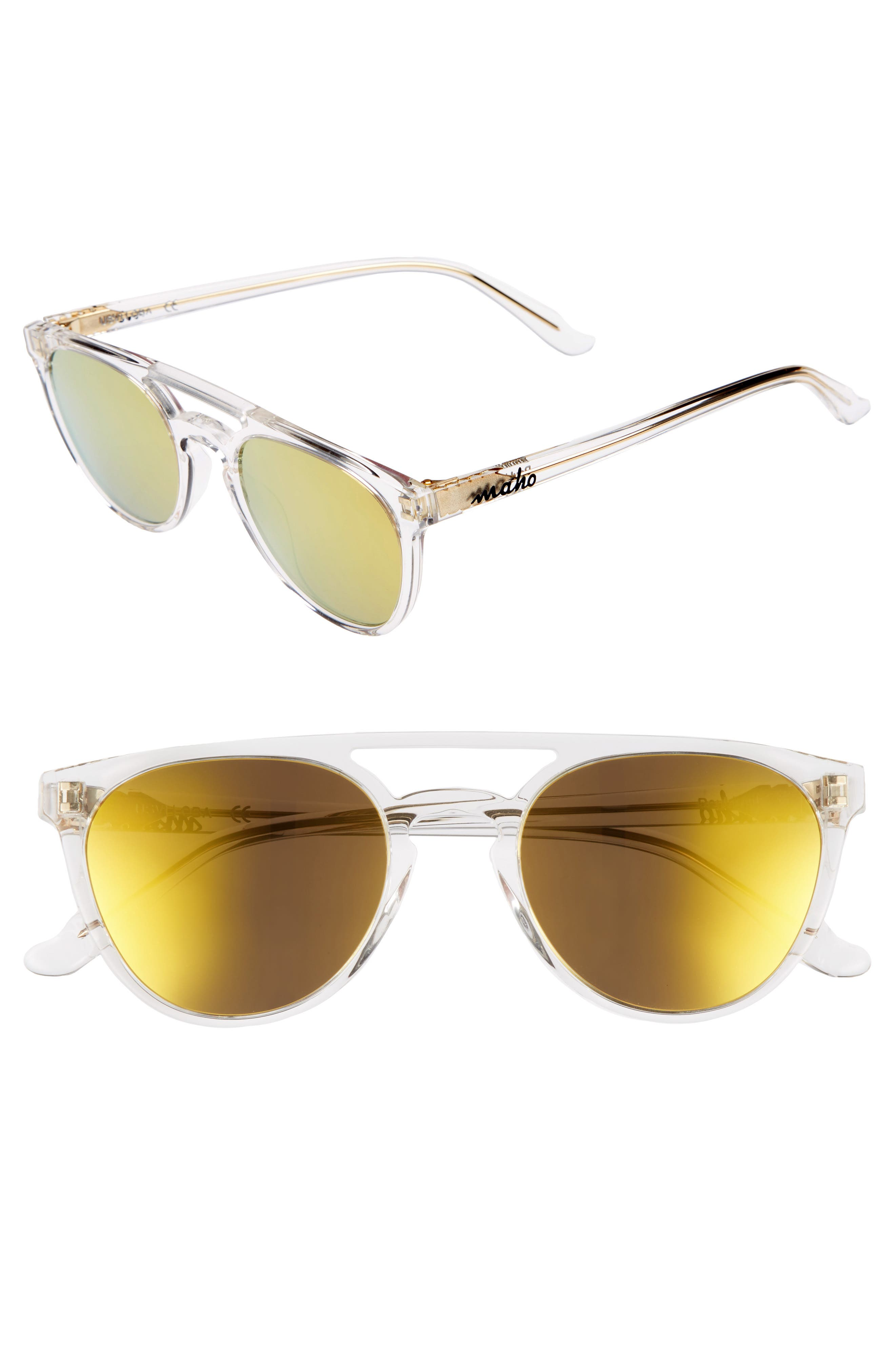 Alternate Image 1 Selected - Maho Reykjavík 49mm Polarized Round Sunglasses