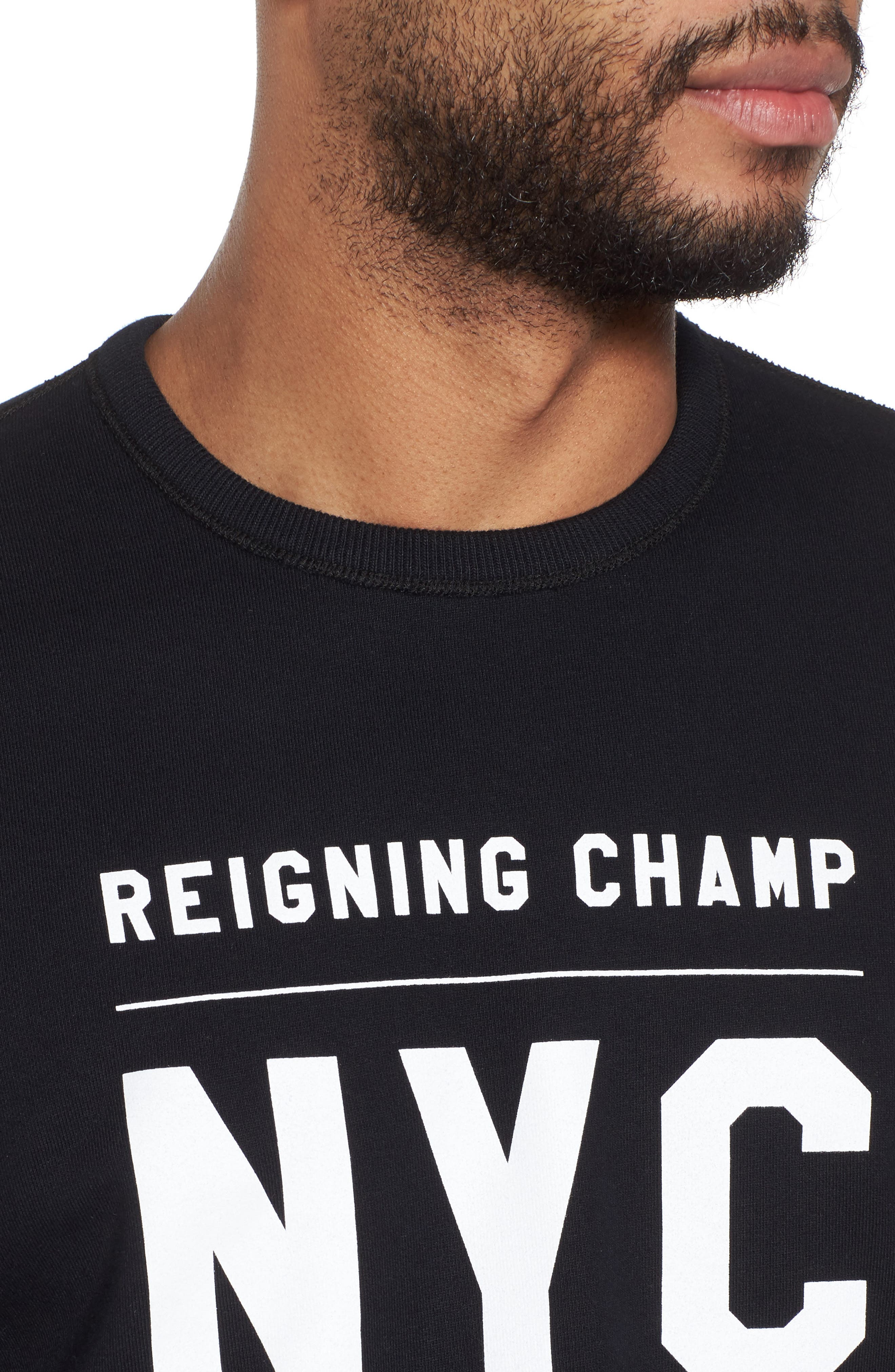 Logo Graphic Long Sleeve T-Shirt,                             Alternate thumbnail 4, color,                             Black