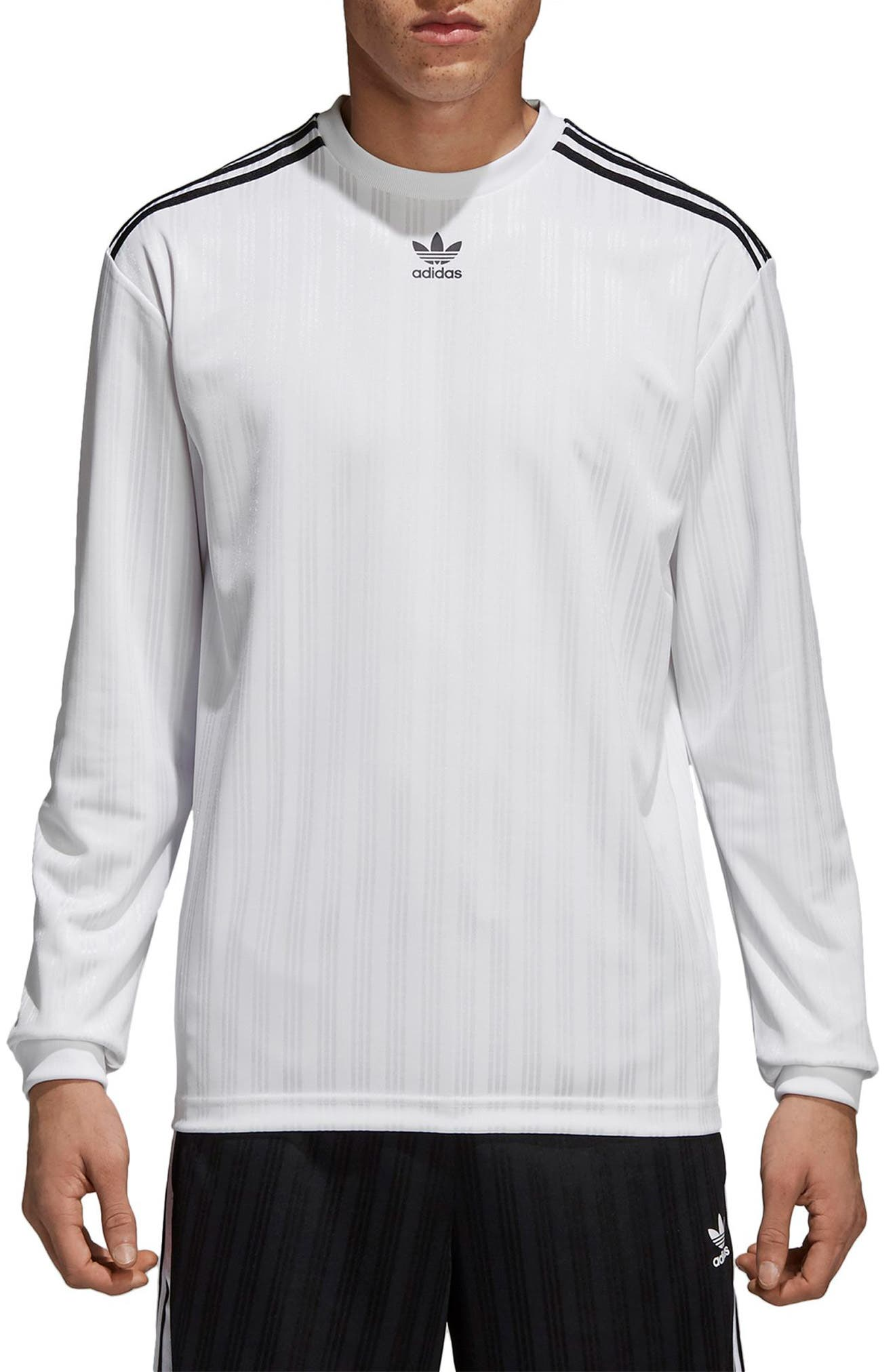 Long Sleeve Jersey Shirt,                         Main,                         color, White