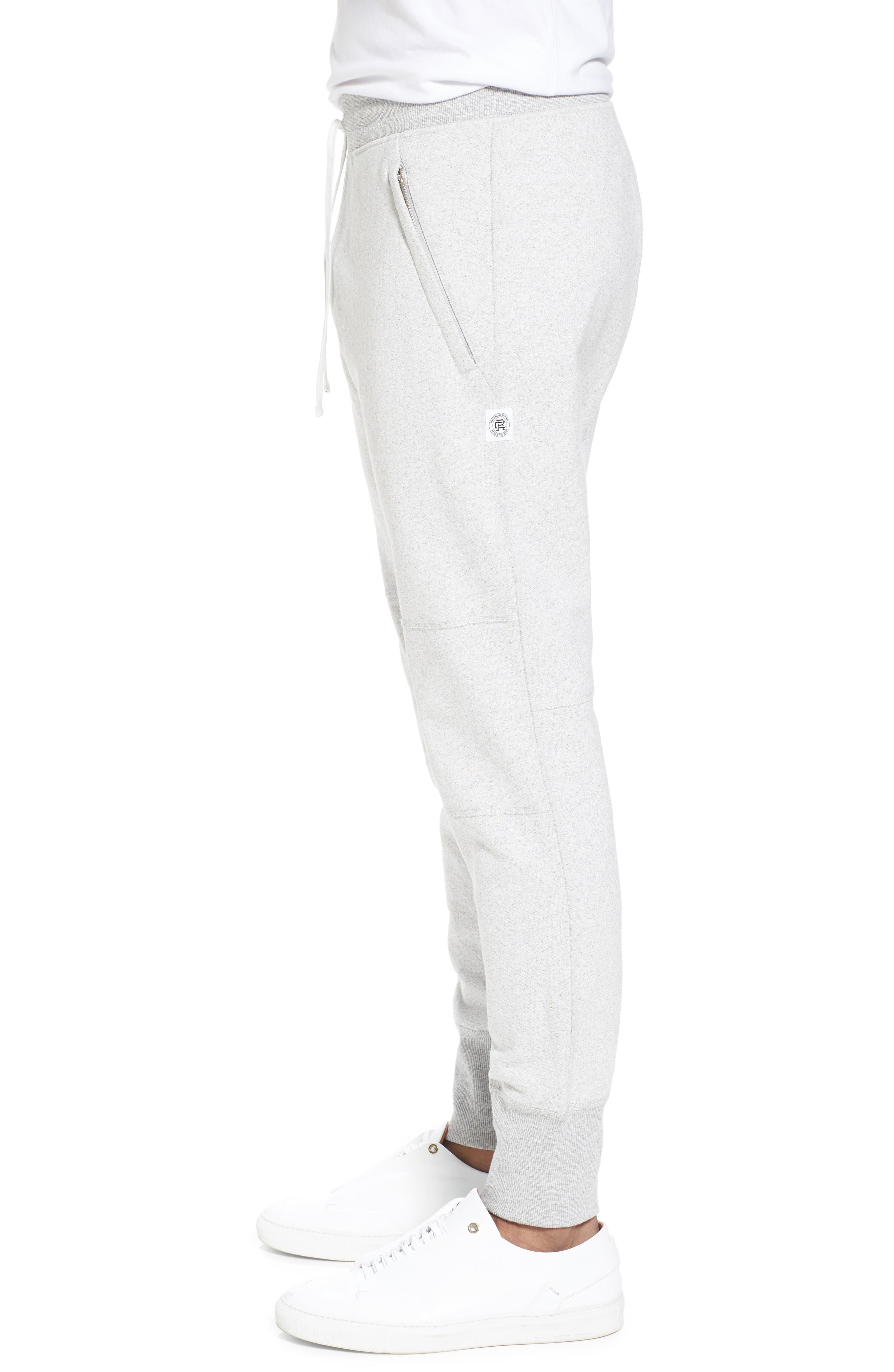 Slim Fit Heavyweight Sweatpants,                             Alternate thumbnail 3, color,                             Chalk